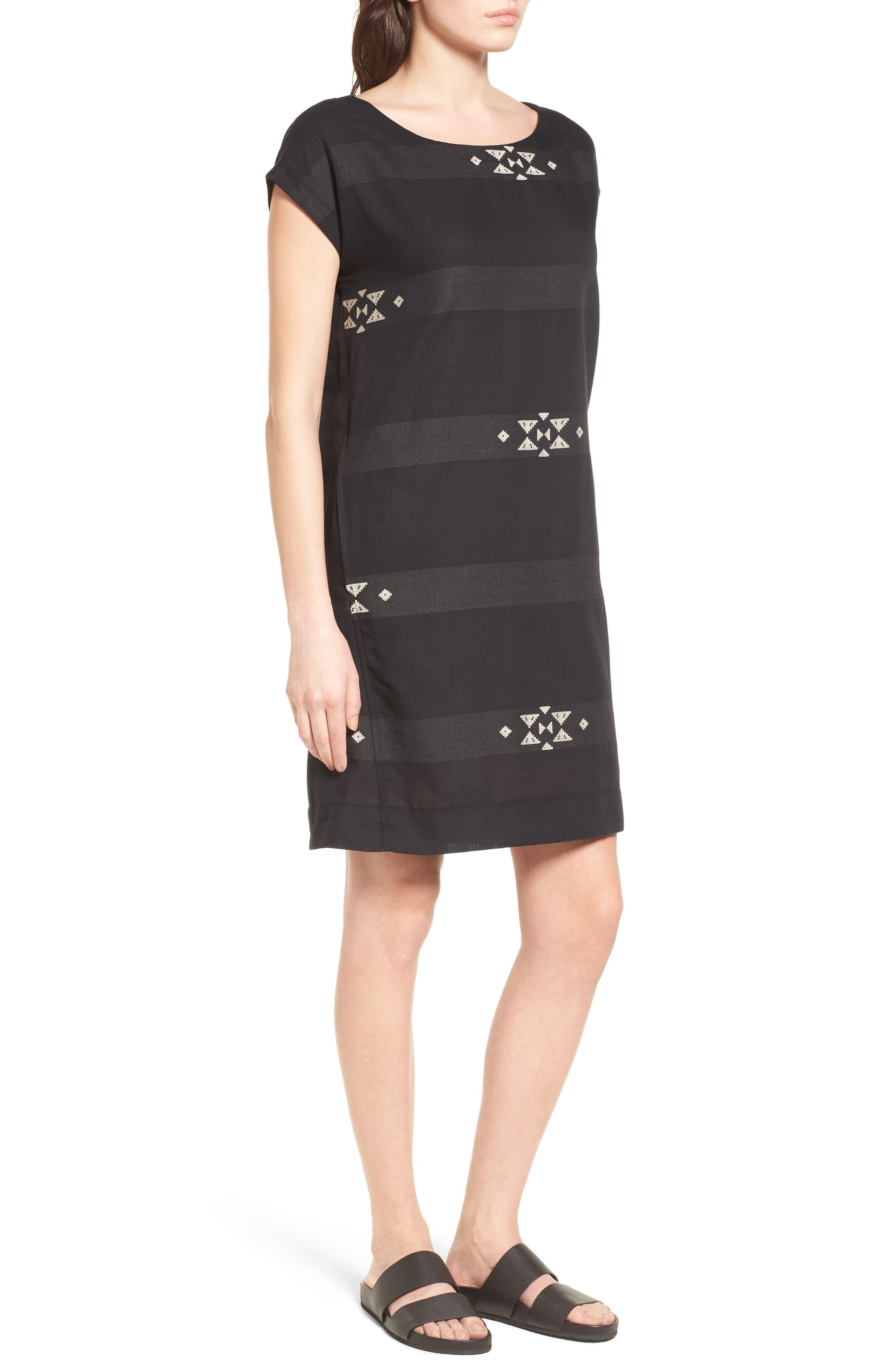 Cotton Jacquard Shirt Dress,                             Alternate thumbnail 3, color,