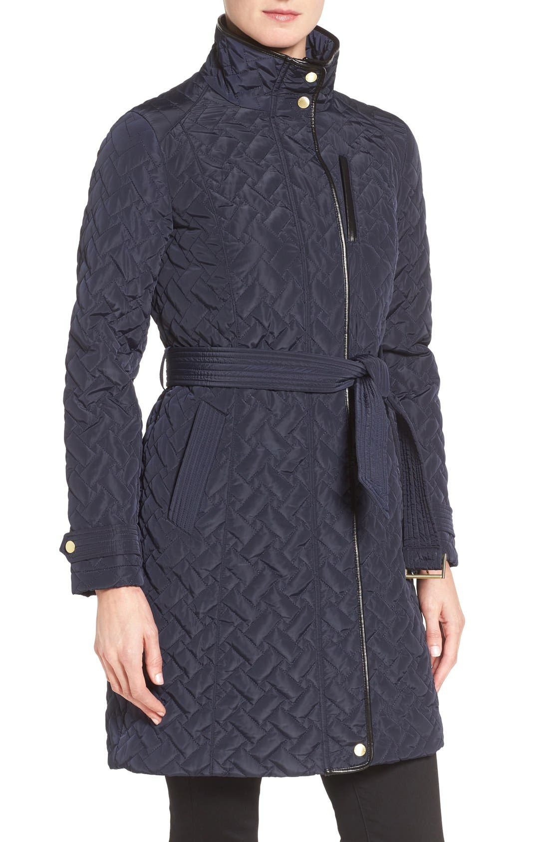 Belted Quilted Coat,                             Alternate thumbnail 24, color,