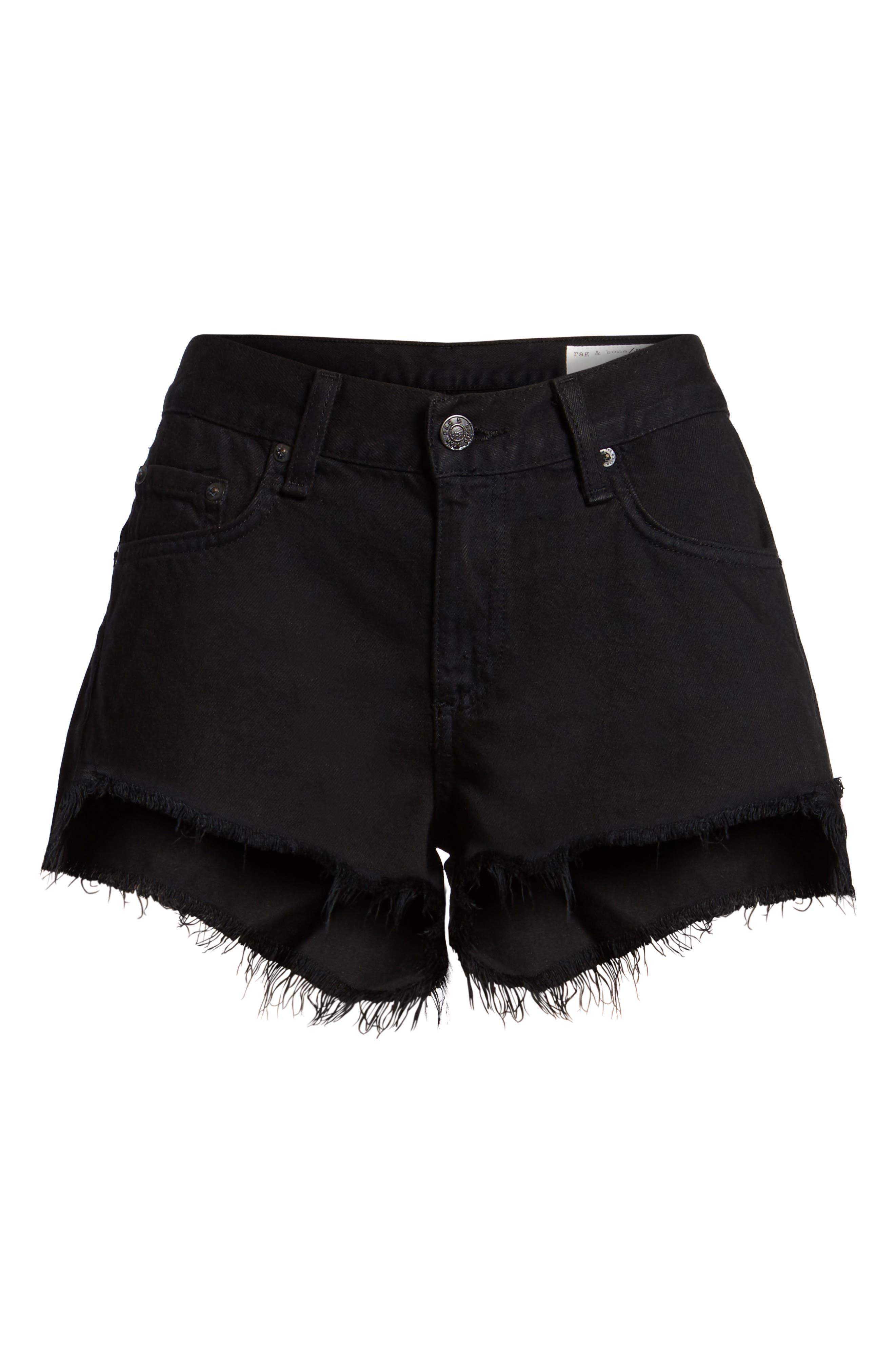 Cutoff Denim Shorts,                             Alternate thumbnail 2, color,                             001