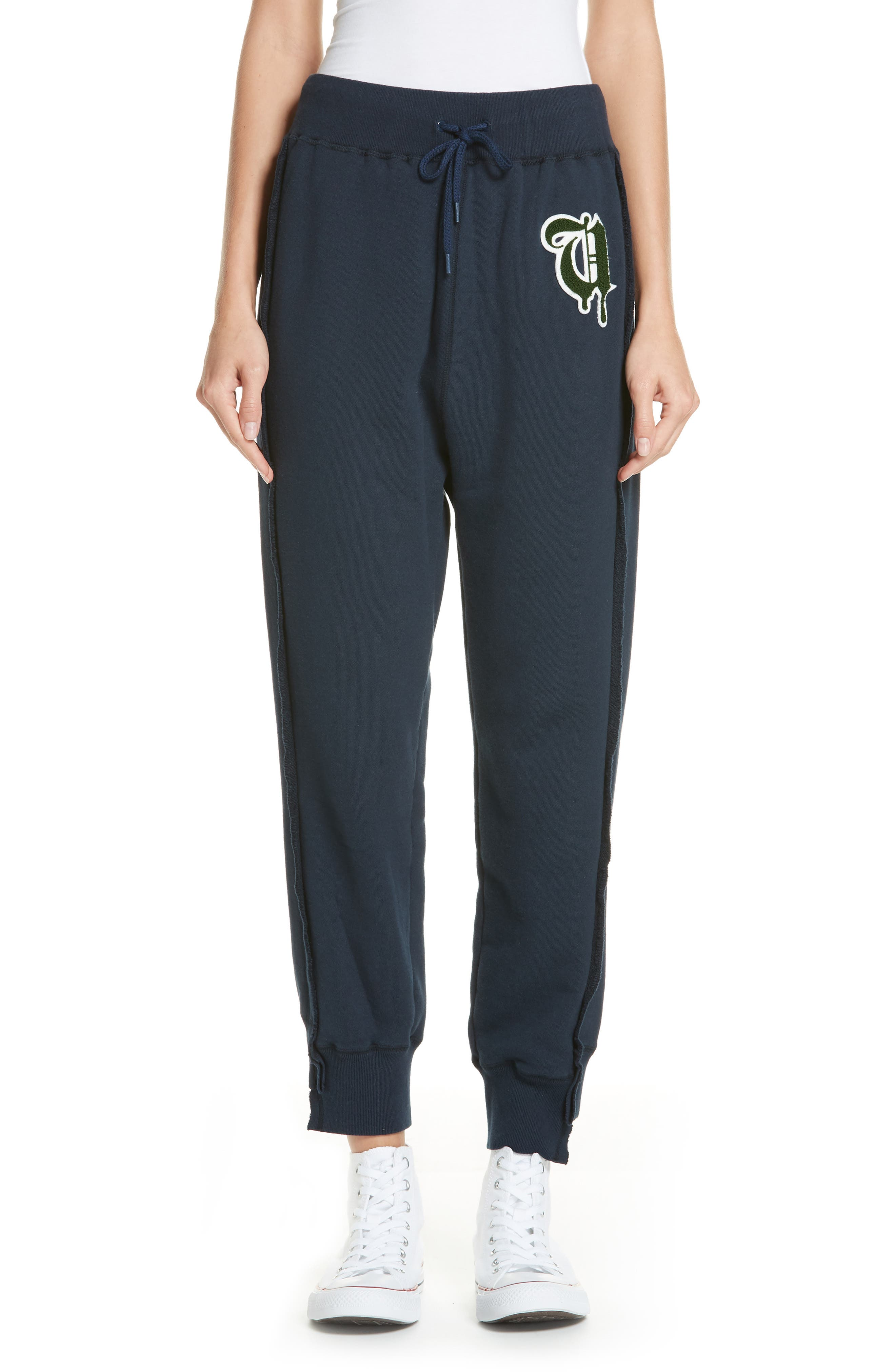 Logo Sweatpants,                         Main,                         color, B DARK NAVY
