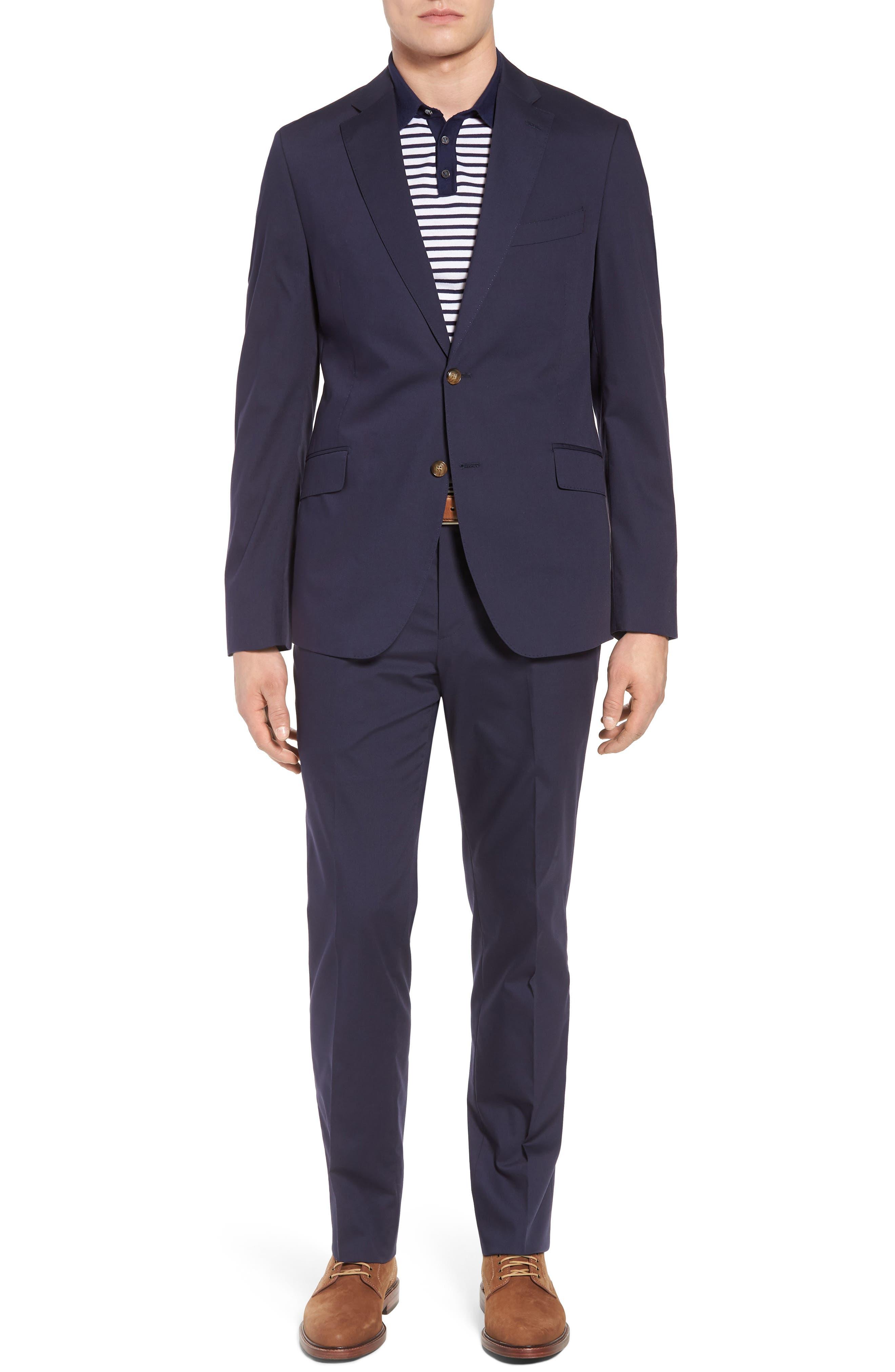 Irons AIM Classic Fit Solid Cotton Blend Suit,                         Main,                         color, 410