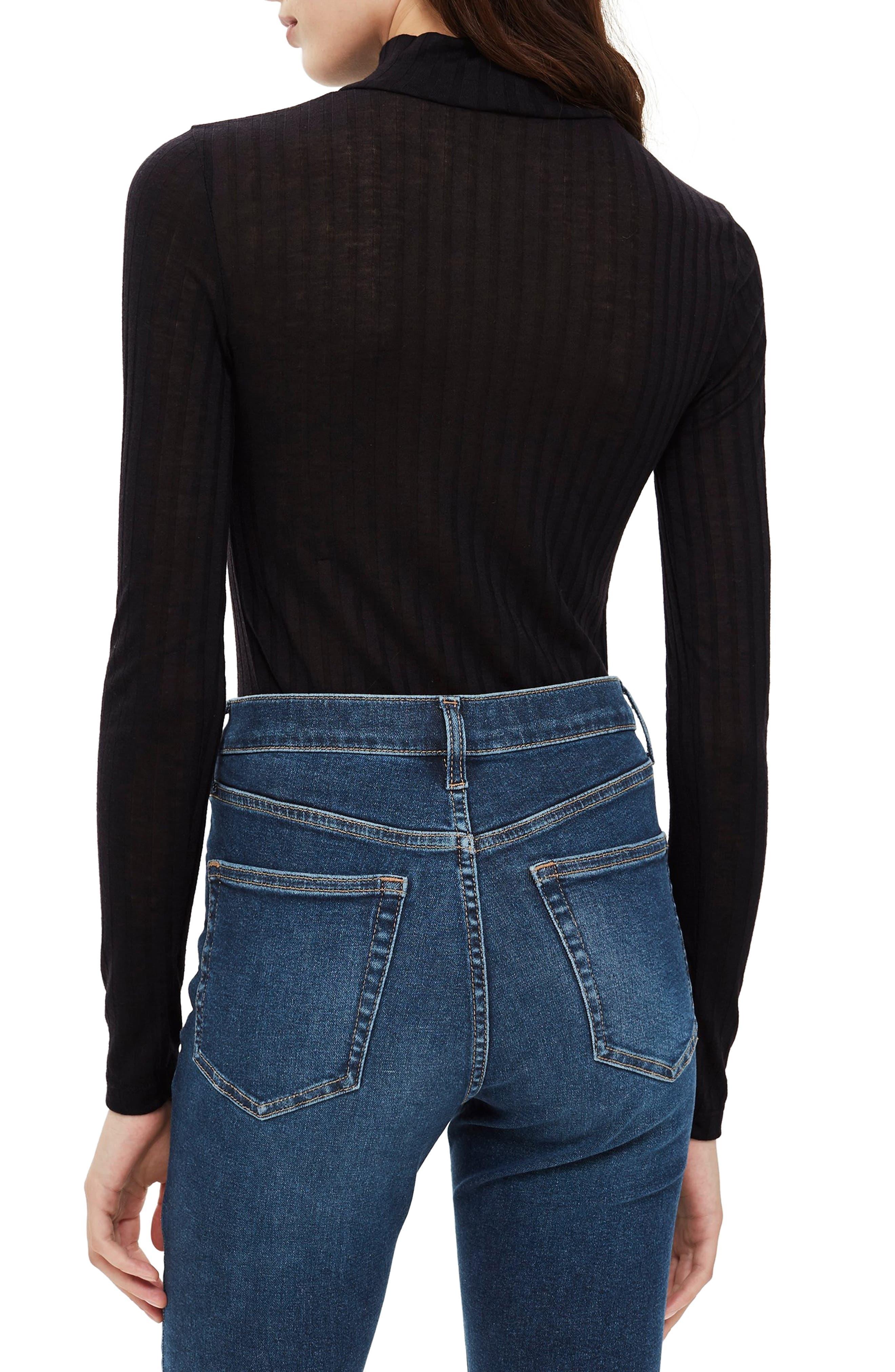 Funnel Neck Shirt,                             Alternate thumbnail 2, color,                             BLACK