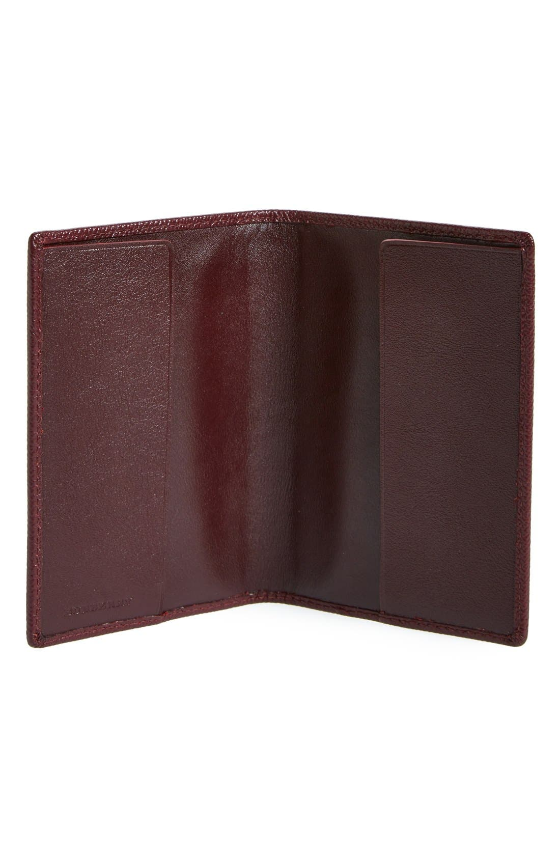 BURBERRY,                             Leather Passport Case,                             Alternate thumbnail 2, color,                             600