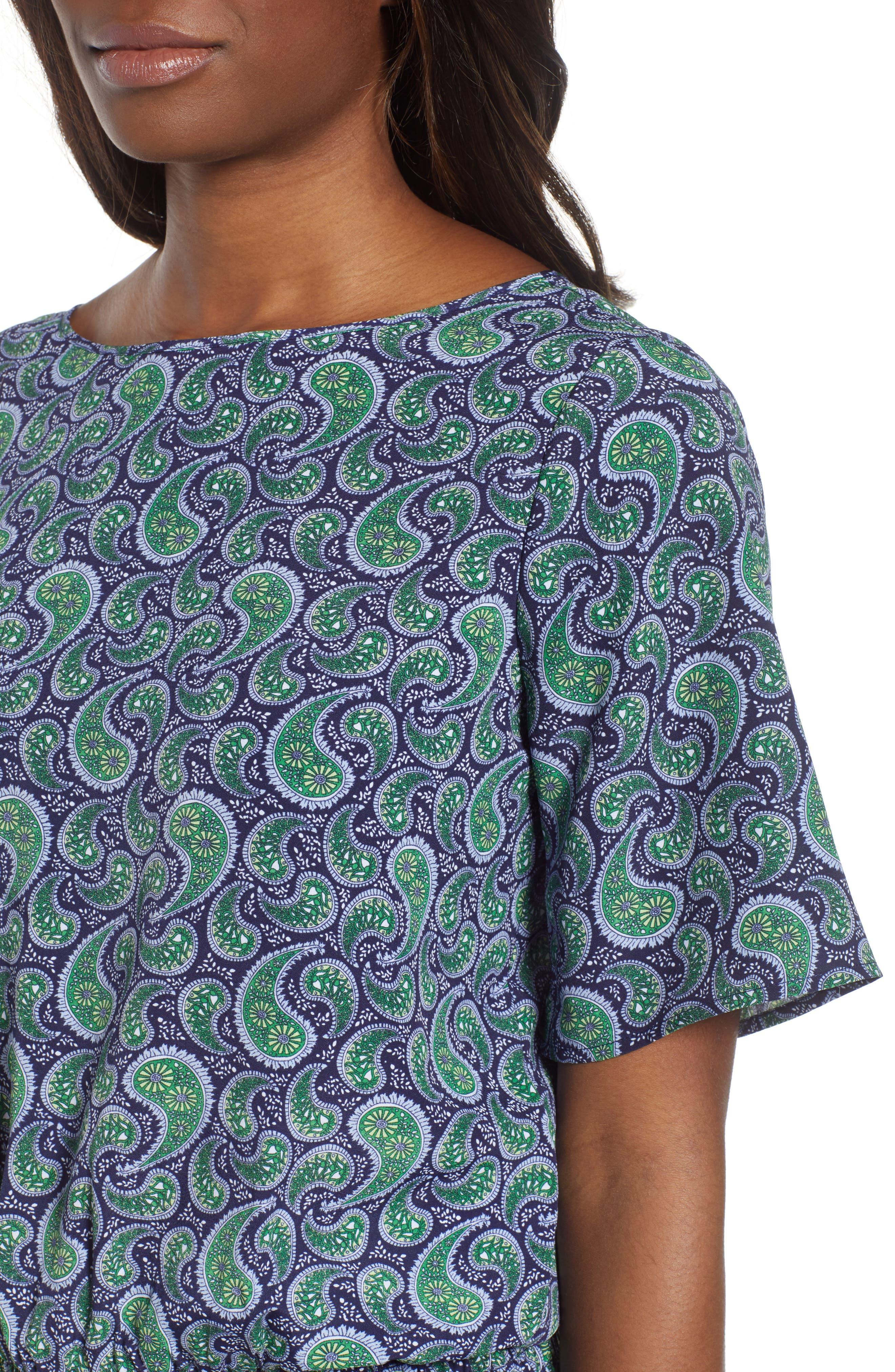 Kimono Sleeve Paisley Top,                             Alternate thumbnail 4, color,