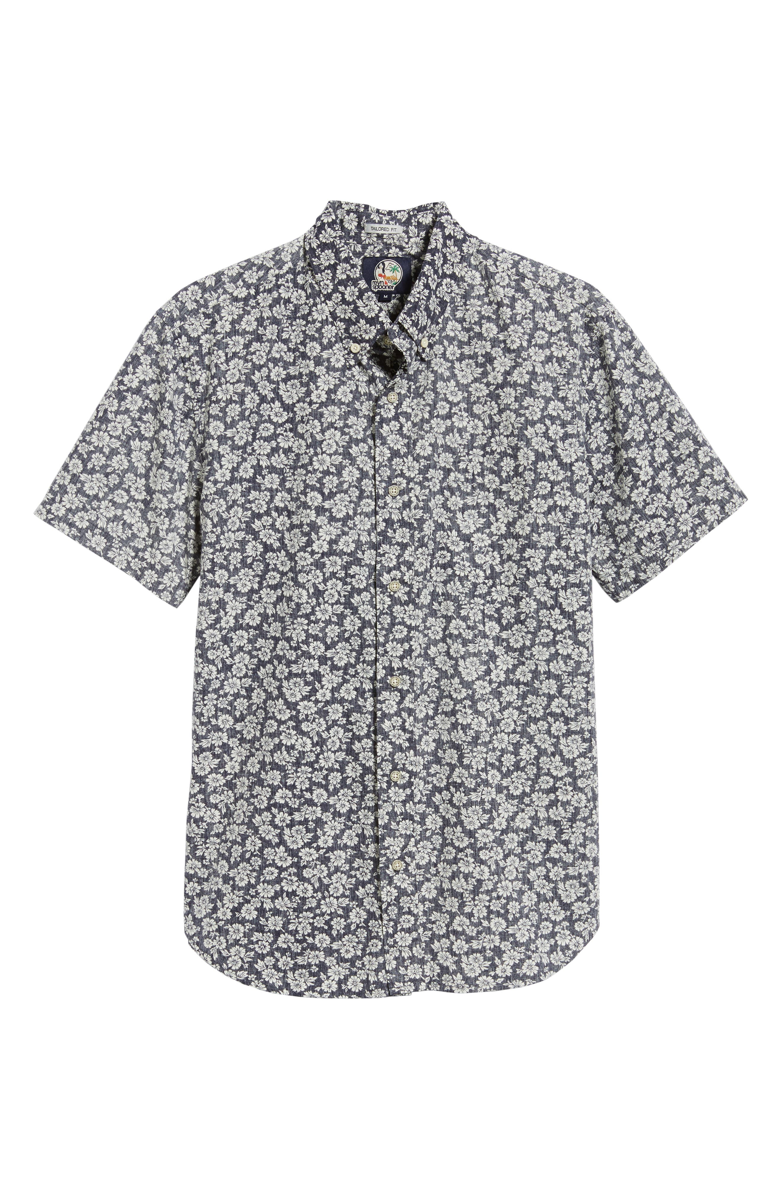 Country Kane Regular Fit Sport Shirt,                             Alternate thumbnail 5, color,                             INK