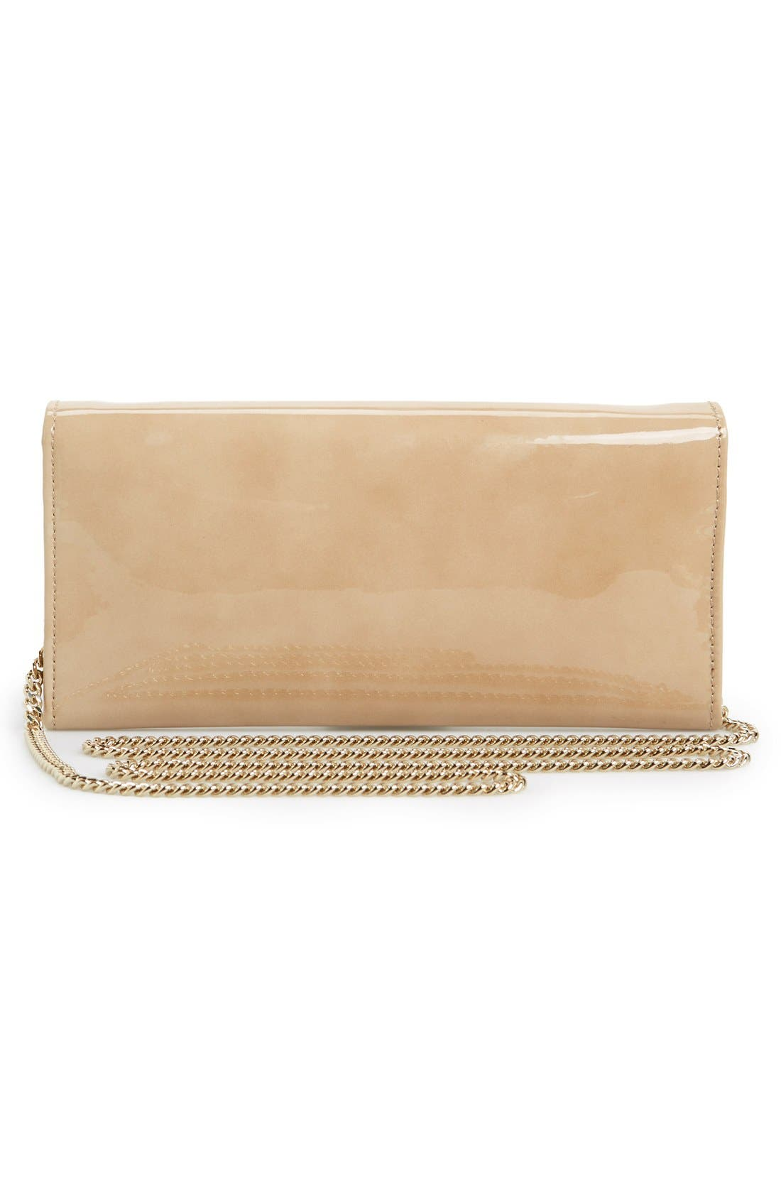 'Milla' Patent Leather Wallet on a Chain,                             Alternate thumbnail 53, color,