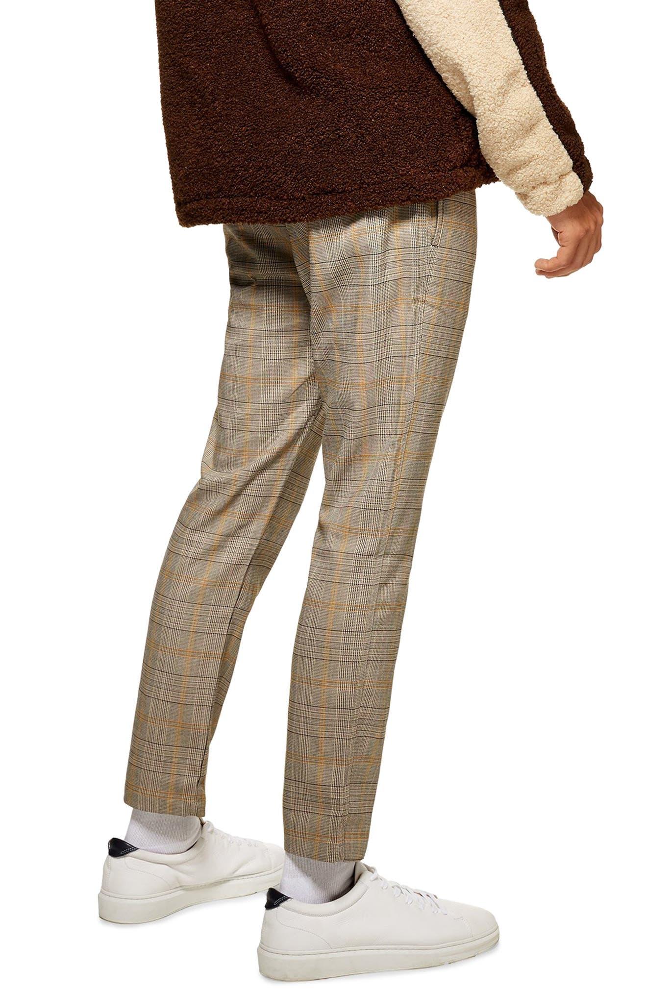 Heritage Check Jogger Pants,                             Alternate thumbnail 2, color,                             BEIGE MULTI