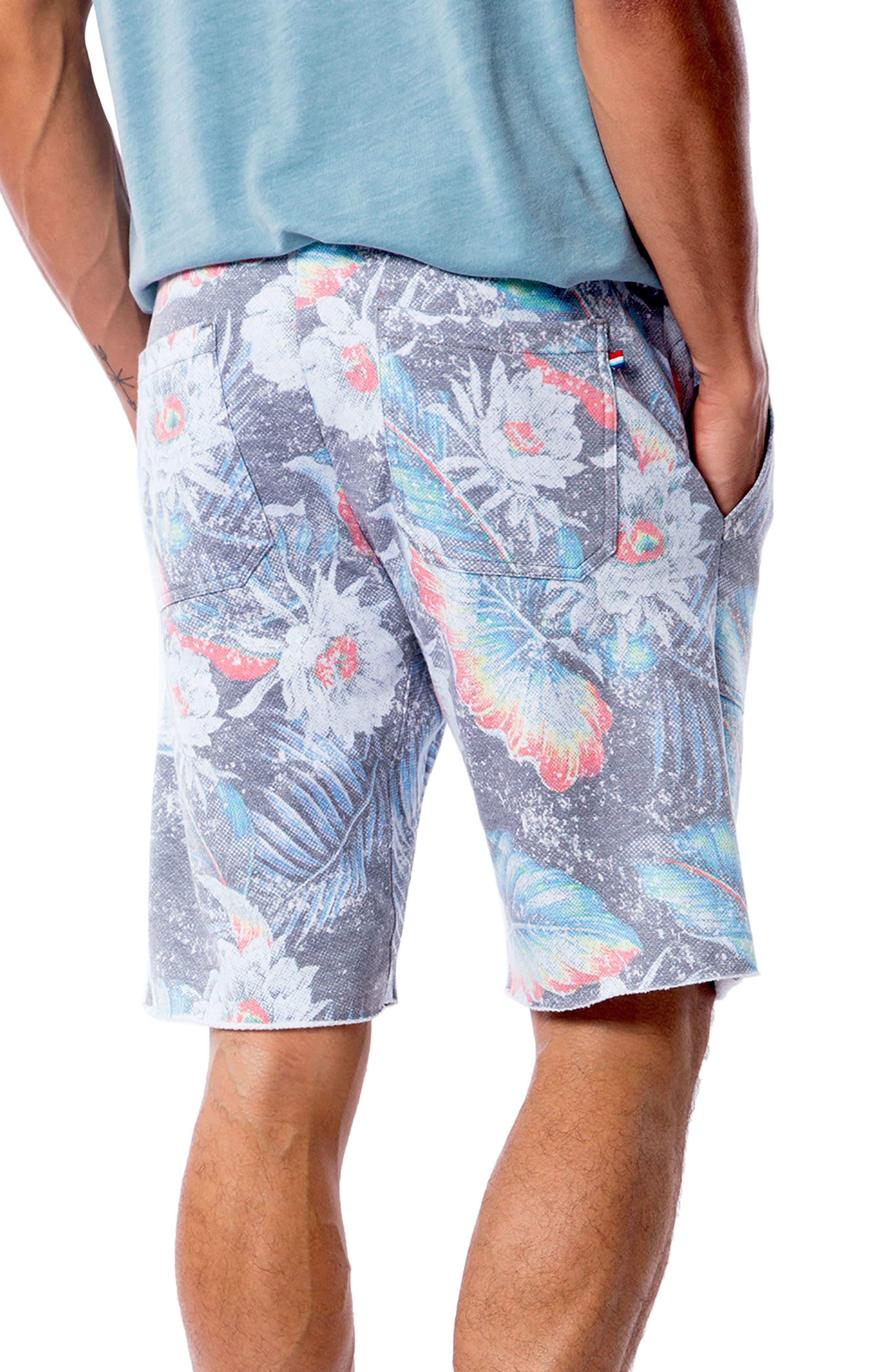 Aqua Flora Saddle Shorts,                             Alternate thumbnail 2, color,                             AQUA FLORA