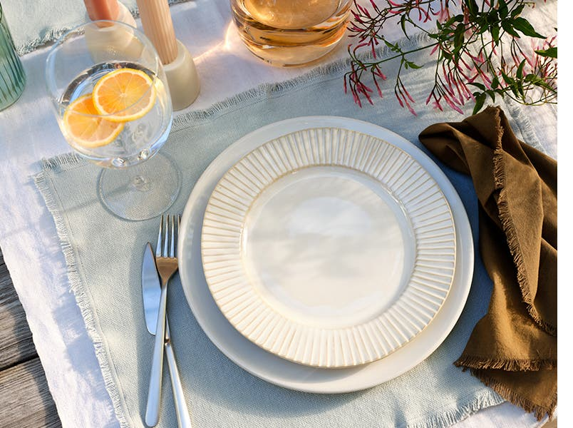 Serveware from Five Two by Food52 and glassware from LSA.