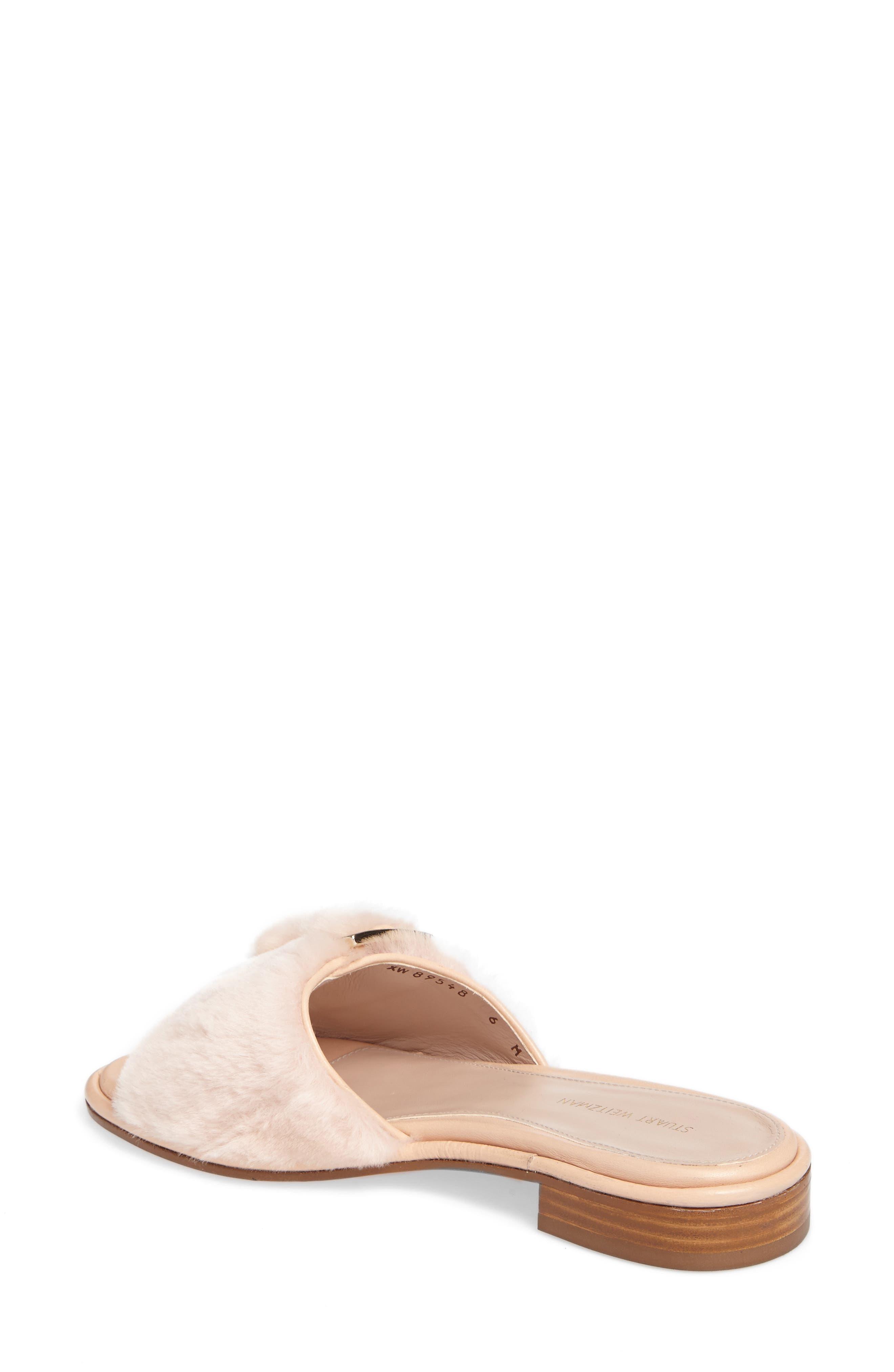 Fuzzywuz Genuine Shearling Slide Sandal,                             Alternate thumbnail 2, color,                             270