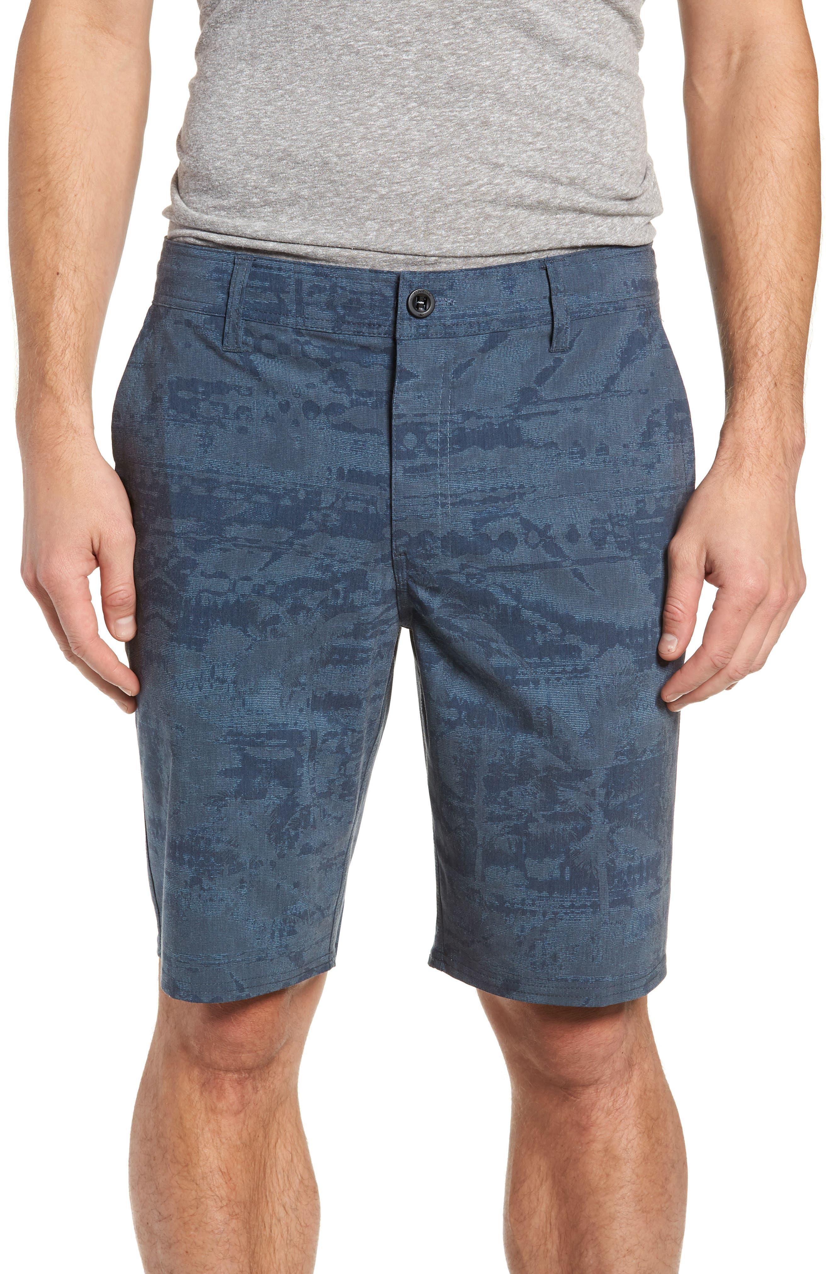 Mixed Hybrid Shorts,                             Main thumbnail 1, color,                             NAVY