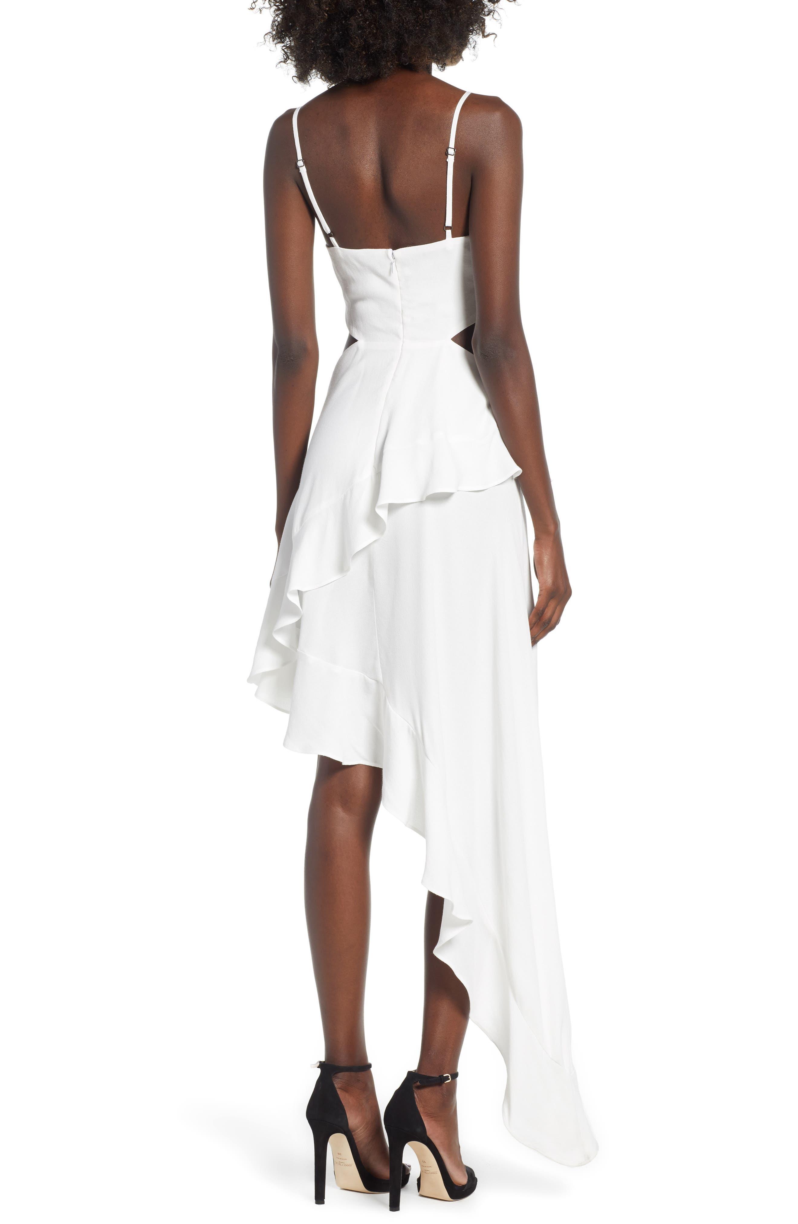 Cayli Asymmetrical Dress,                             Alternate thumbnail 2, color,                             100