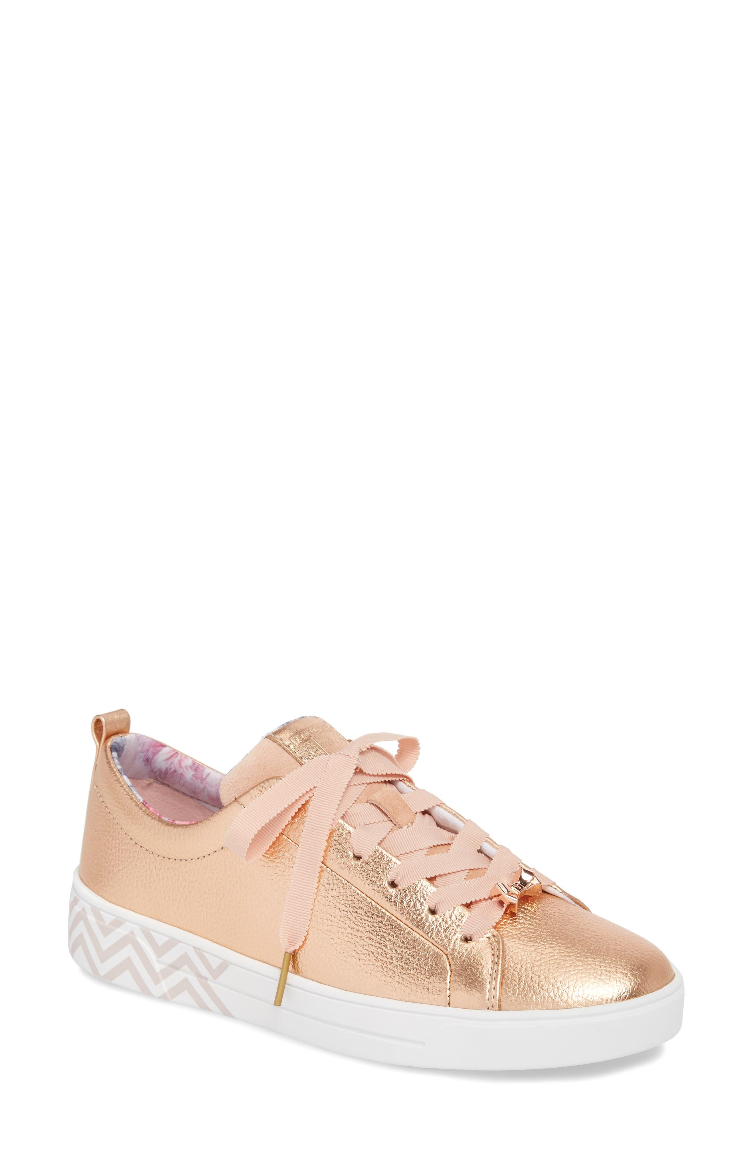 Kelleip Sneaker,                         Main,                         color, ROSE GOLD/ PALACE GARDENS