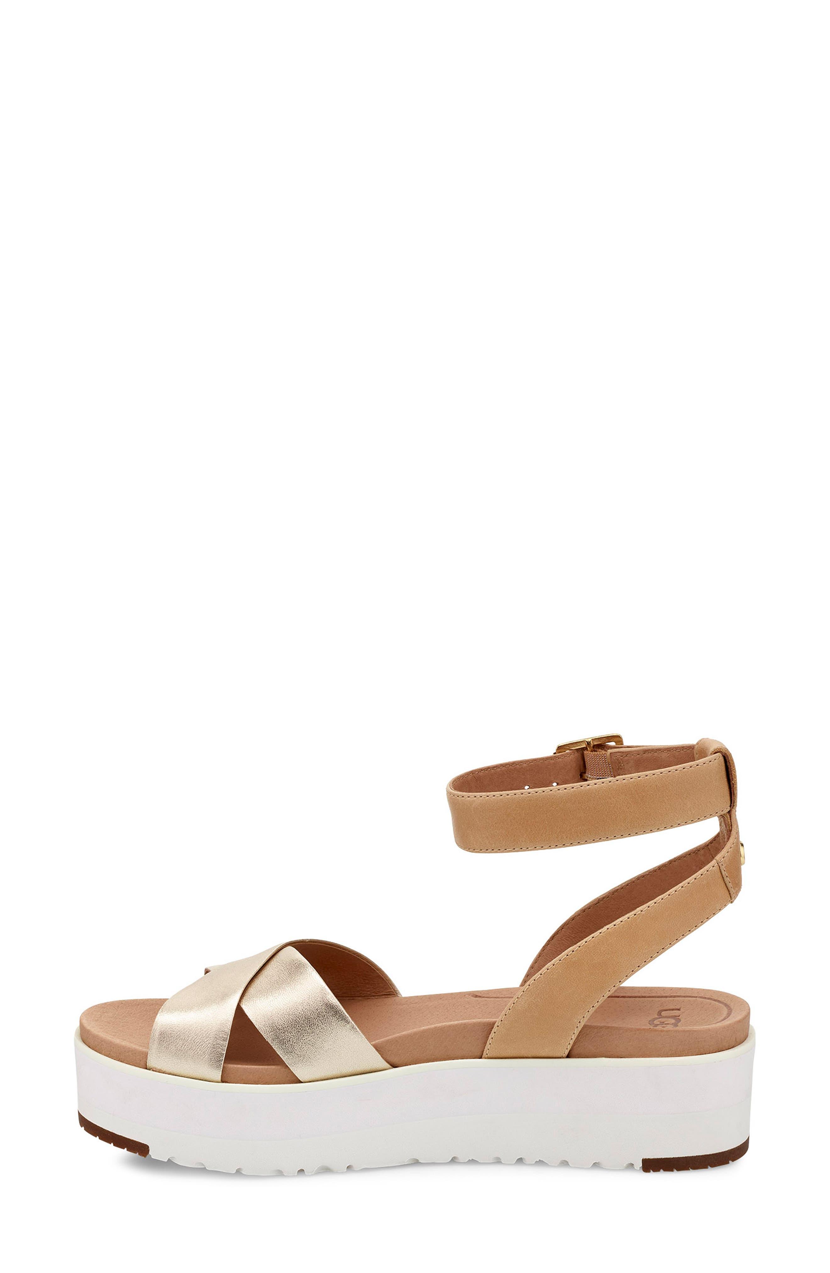 Tipton Metallic Platform Sandal,                             Alternate thumbnail 6, color,                             GOLD
