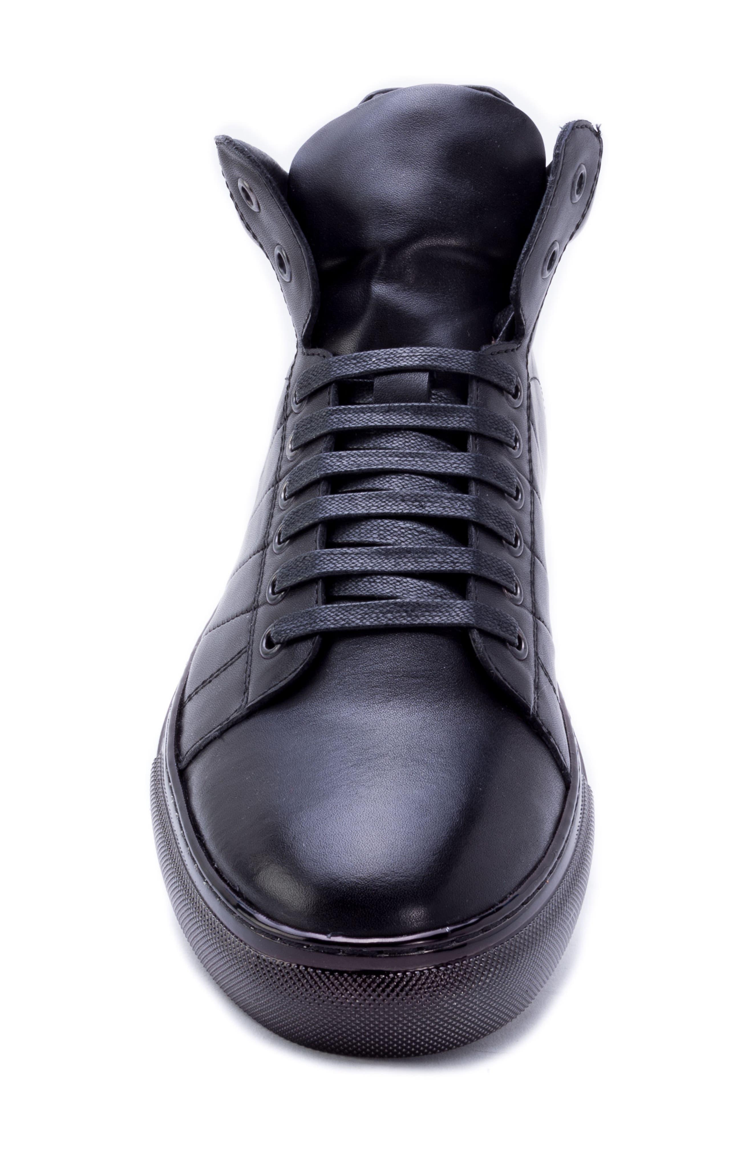 Crosby Sneaker,                             Alternate thumbnail 5, color,                             BLACK LEATHER