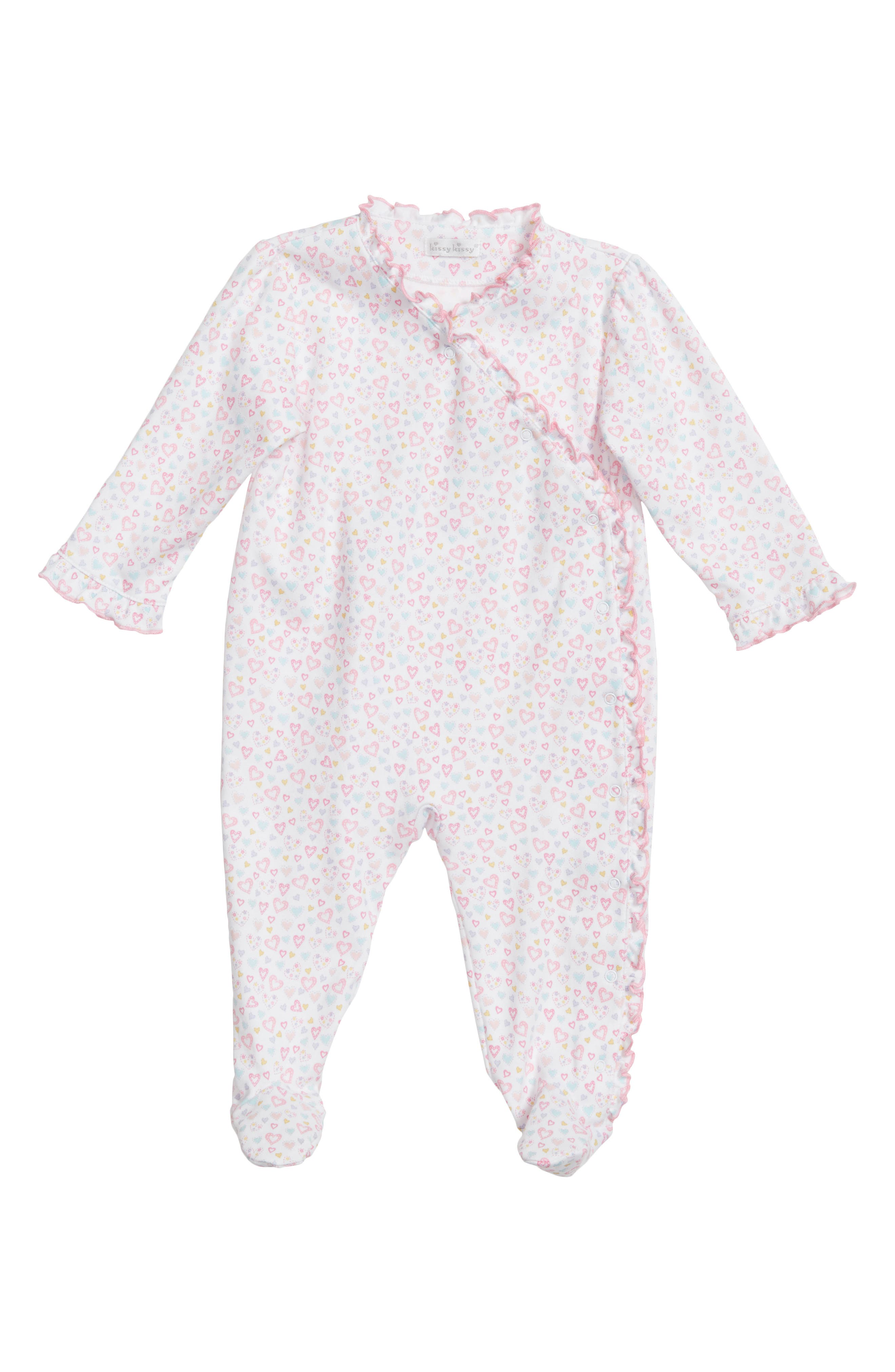 Dina Heart Darling Ruffle Footie,                             Main thumbnail 1, color,                             650