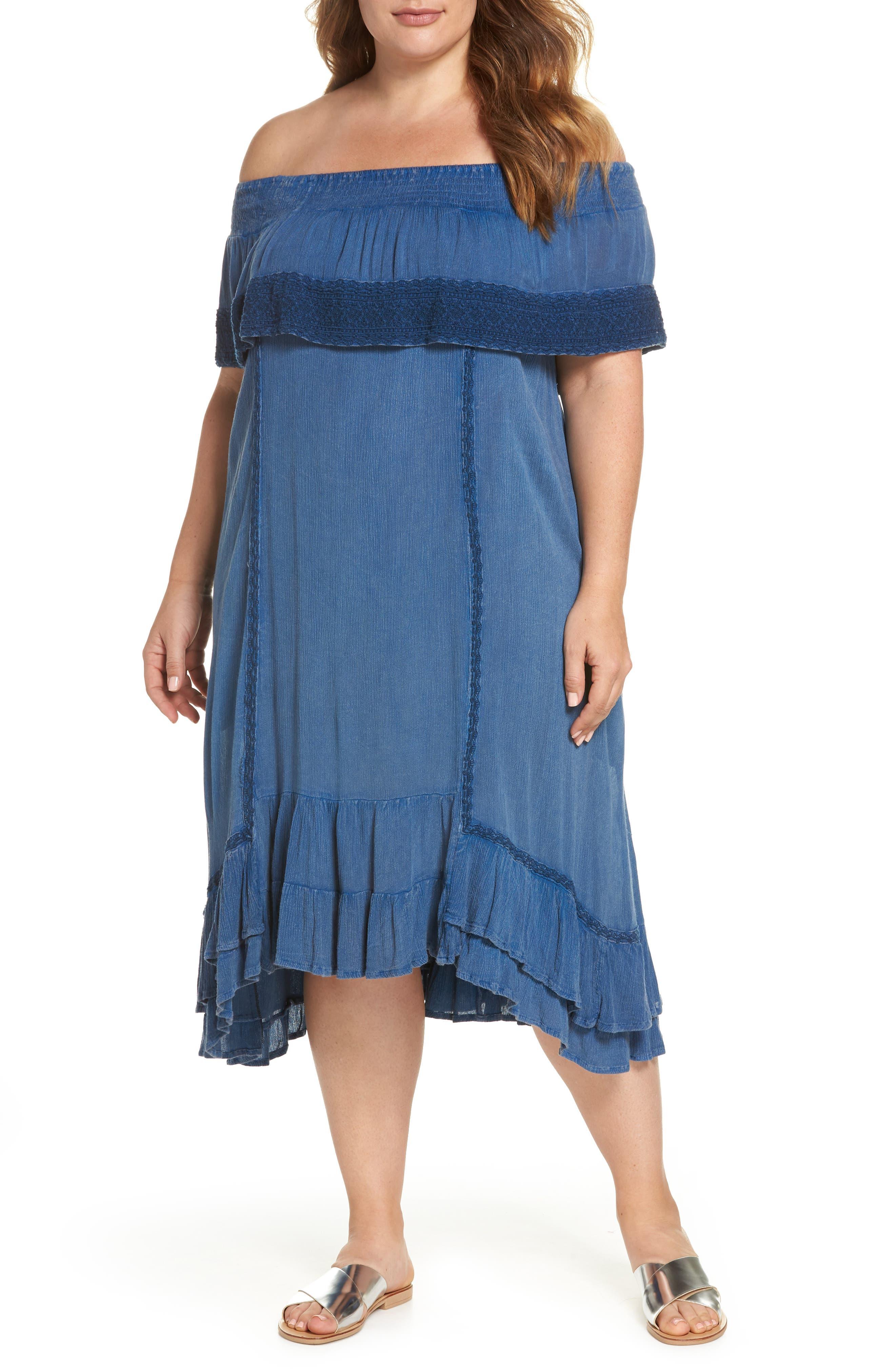 Gavin Ruffle Cover-Up Dress,                         Main,                         color, 462