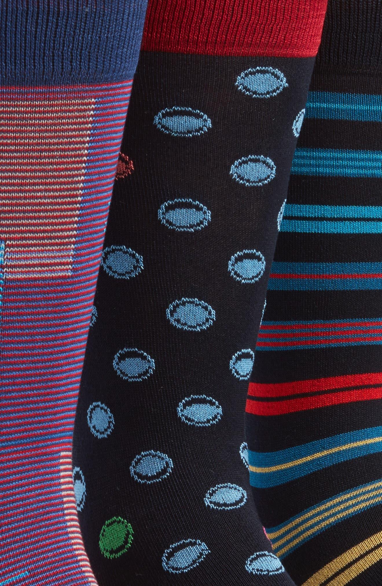 3-Pack Assorted Mercerized Cotton Blend Sock Gift Set,                             Alternate thumbnail 3, color,                             410