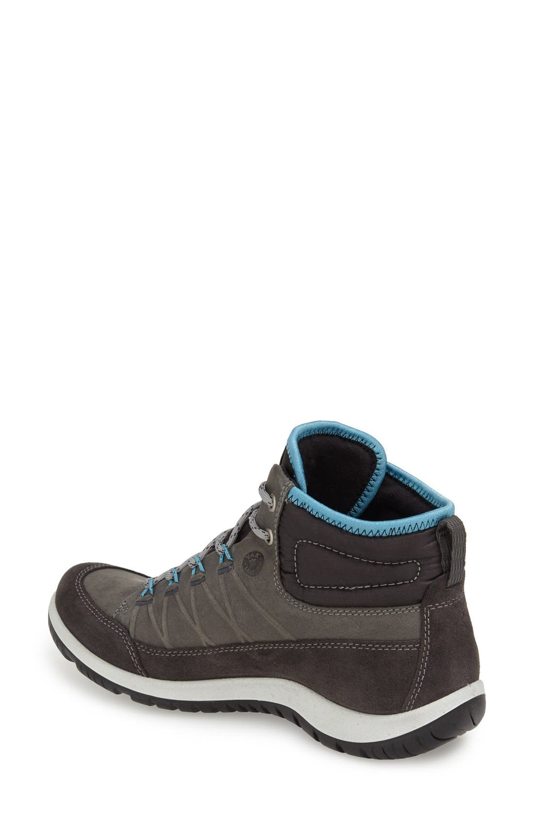 ECCO,                             'Aspina GTX' Waterproof High Top Shoe,                             Alternate thumbnail 3, color,                             MOONLESS OILED SUEDE