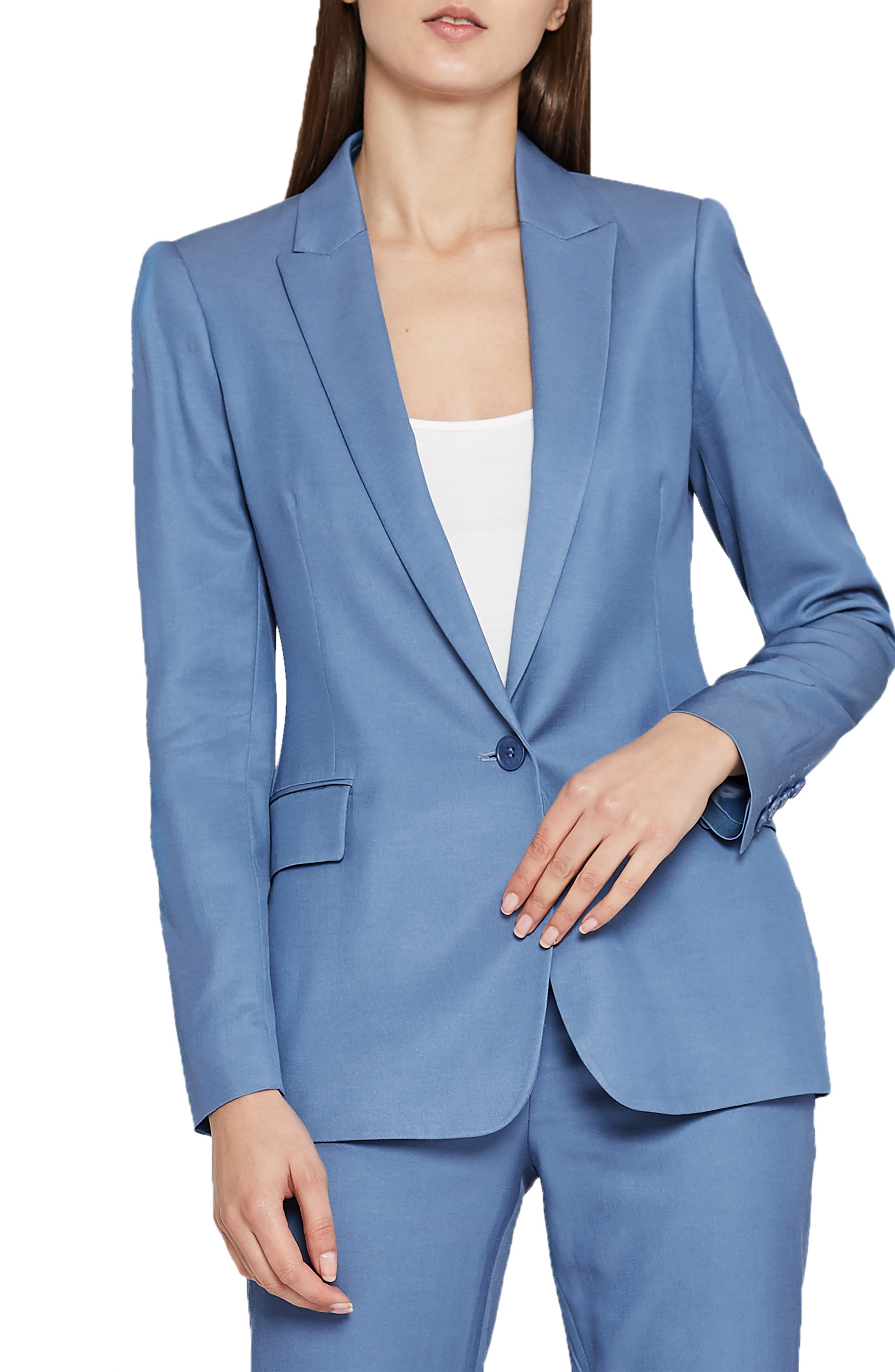 REISS Etta Slim Fit Blazer in Marine Blue