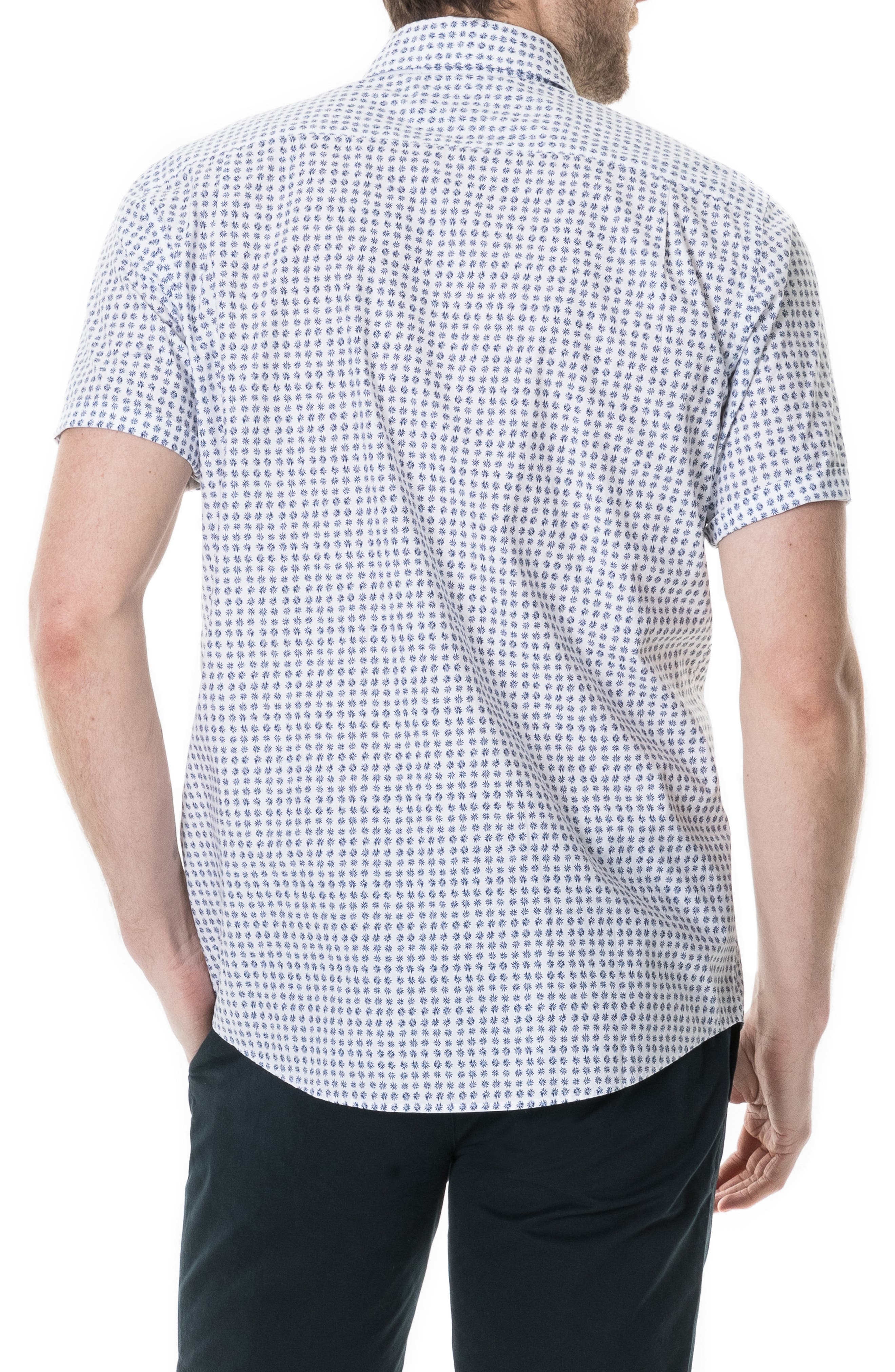 RODD & GUNN,                             Carrington Regular Fit Sport Shirt,                             Alternate thumbnail 3, color,                             SNOW