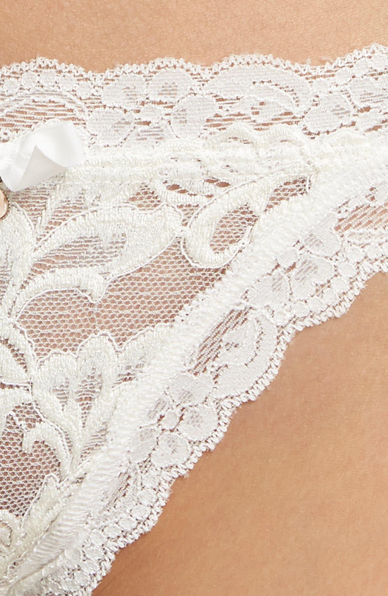 HANKY PANKY,                             Porcelain Rose Bikini,                             Alternate thumbnail 4, color,                             900