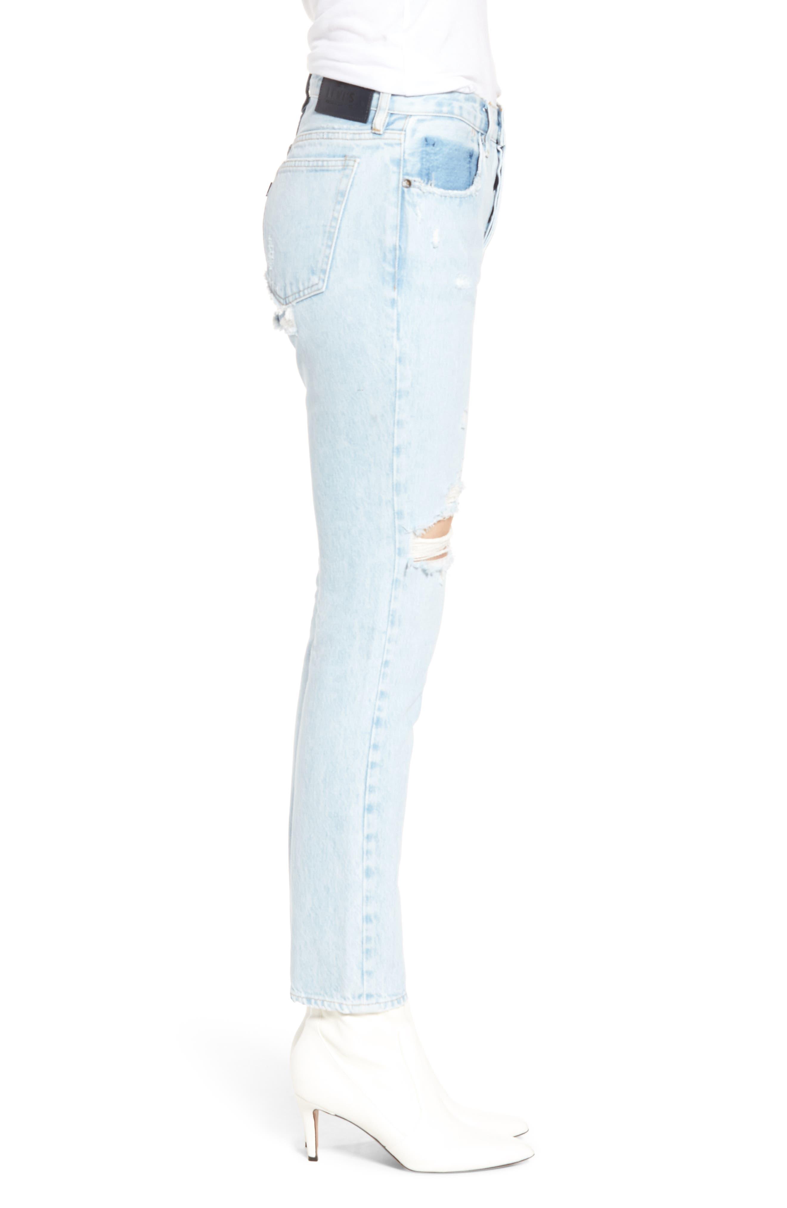 Twig II High Waist Ankle Slim Jeans,                             Alternate thumbnail 3, color,