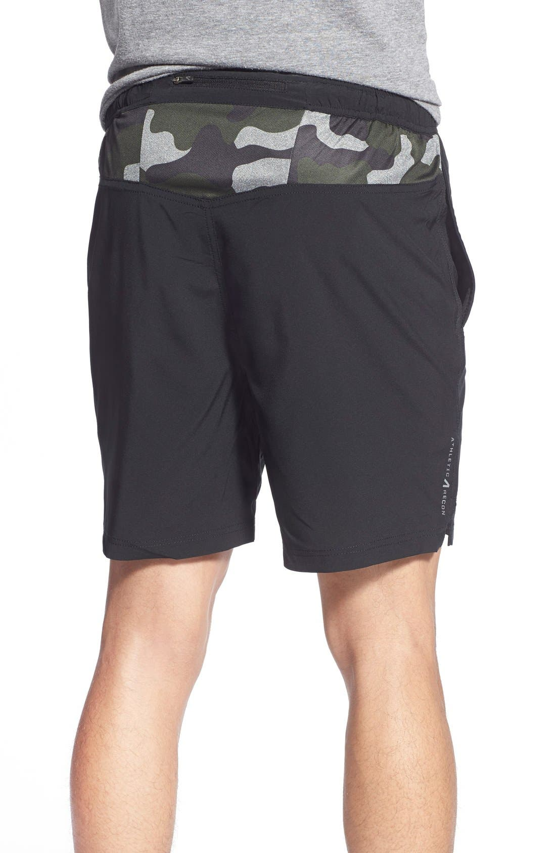 ATHLETIC RECON,                             '6.5' Stretch Woven Performance Shorts,                             Alternate thumbnail 5, color,                             001