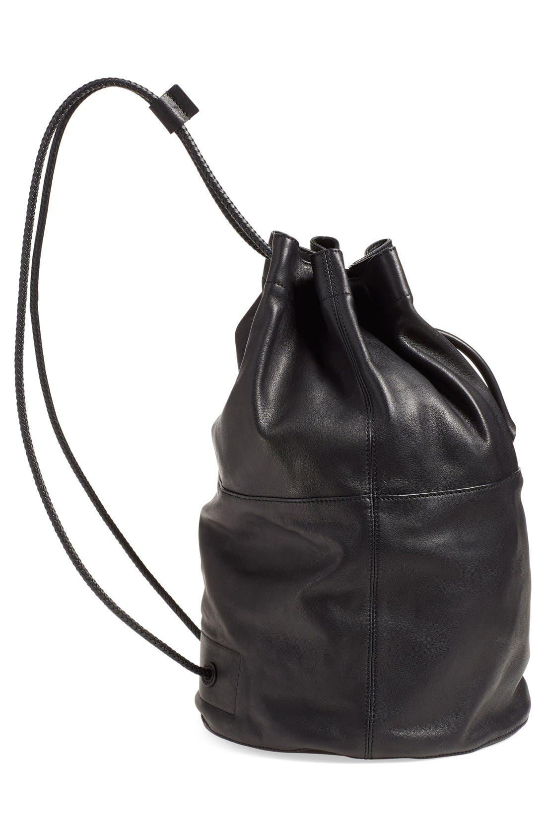 'Walker' Leather Backpack,                             Alternate thumbnail 2, color,                             001