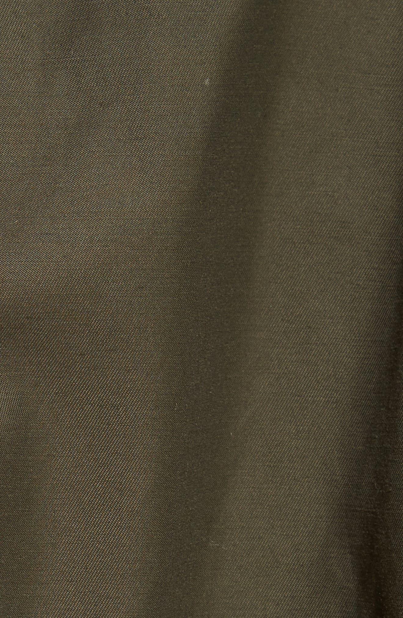 Sharya Technical Crisp Genuine Shearling Trim Parka,                             Alternate thumbnail 5, color,                             307