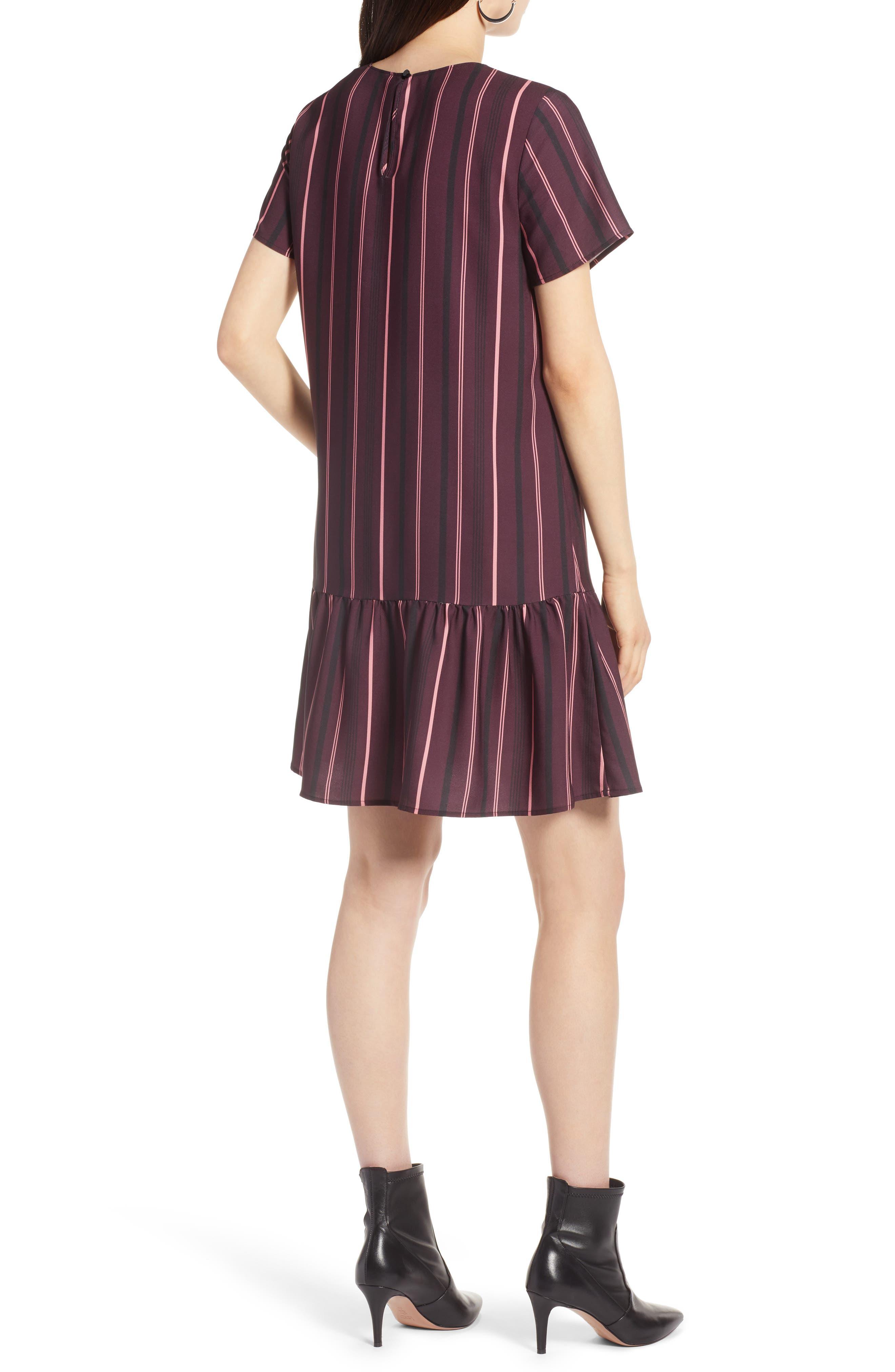 Short Sleeve Ruffle Hem Dress,                             Alternate thumbnail 13, color,