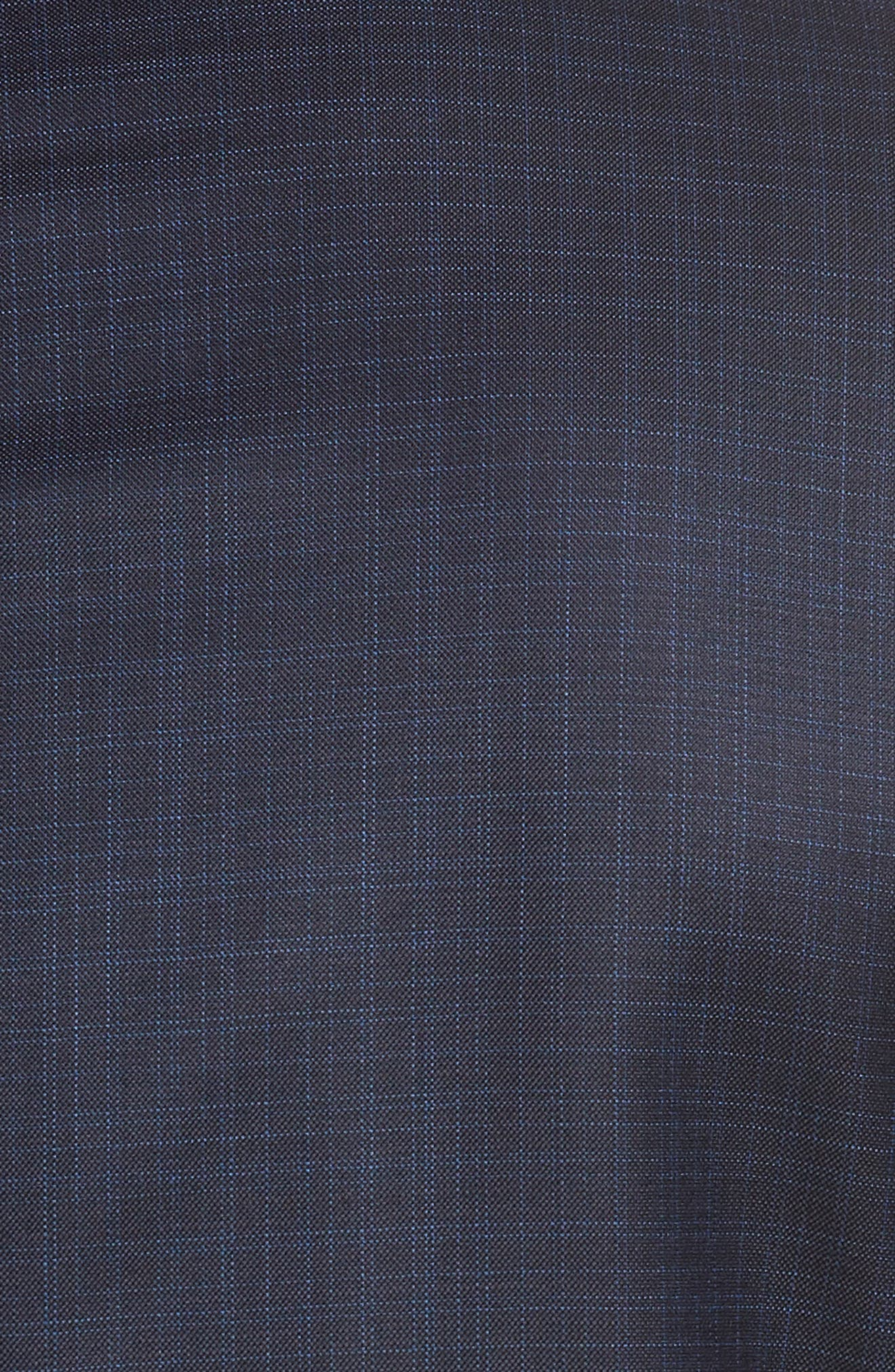 Huge/Genius Trim Fit Plaid Wool Blend Suit,                             Alternate thumbnail 7, color,