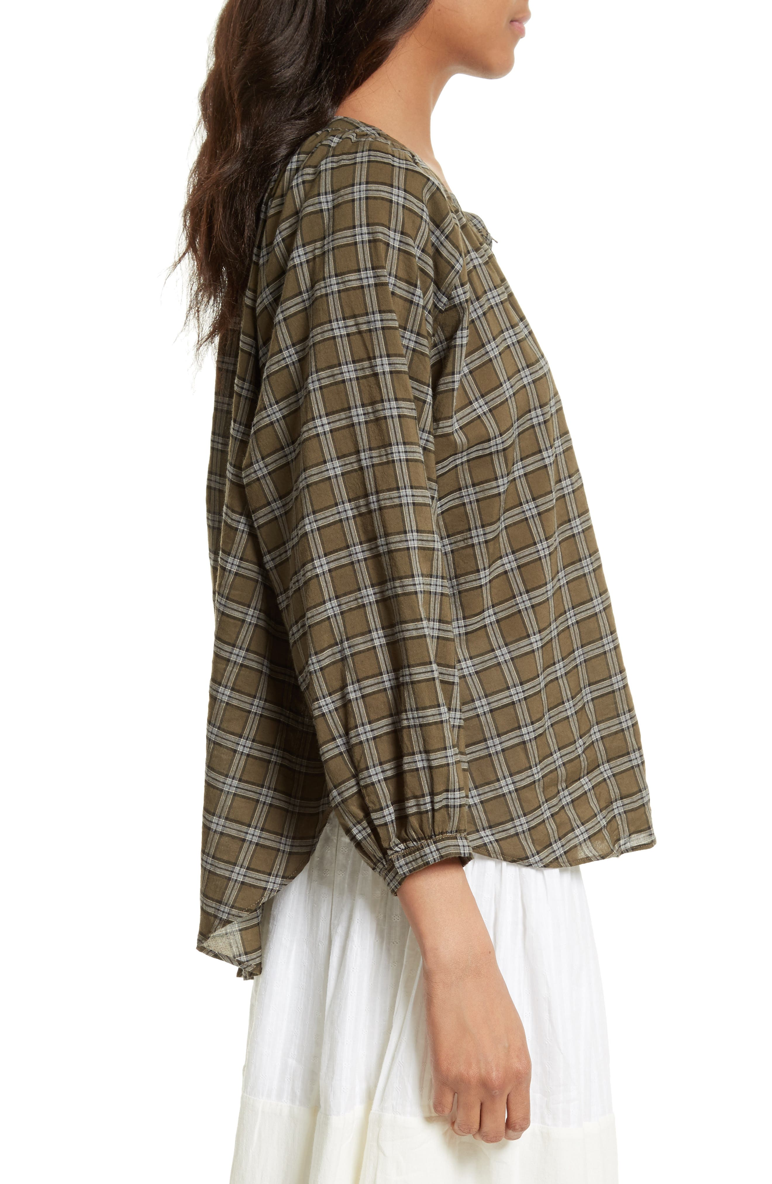 The Wildflower Plaid Top,                             Alternate thumbnail 3, color,                             300