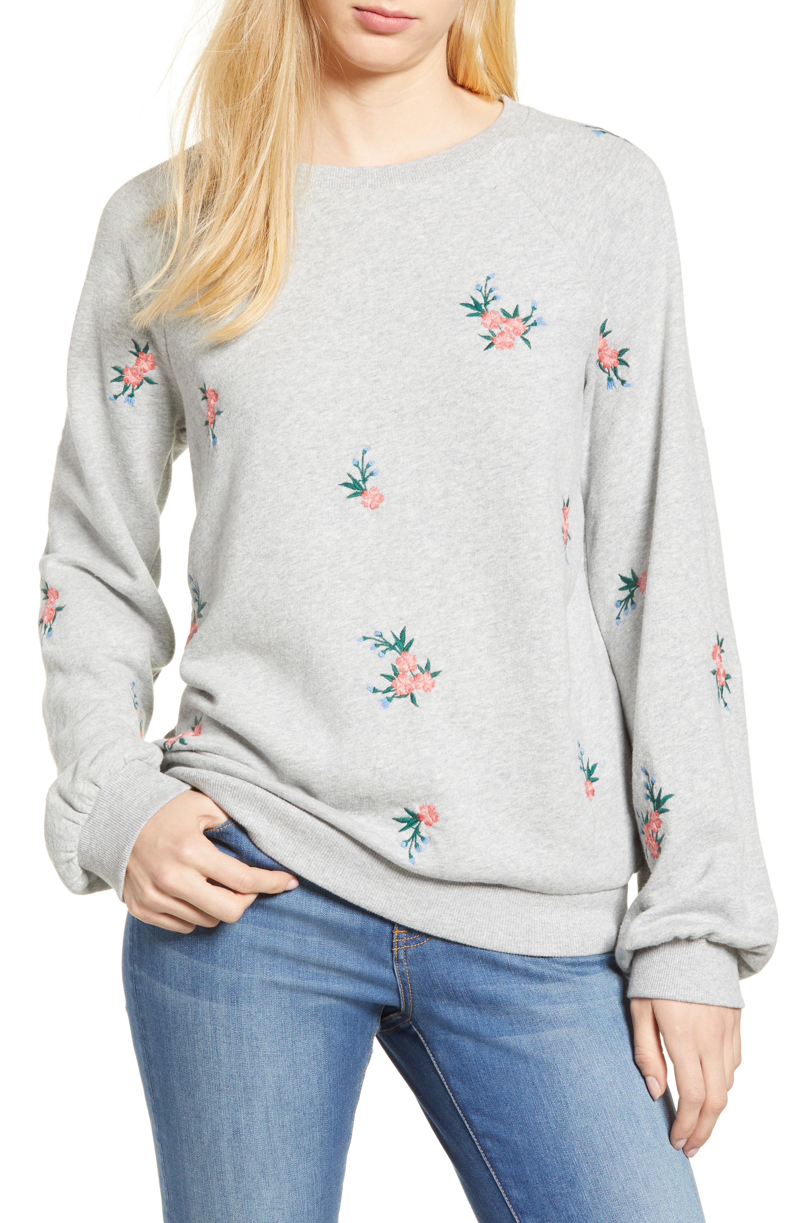 Embroidered Sweatshirt,                         Main,                         color, 030