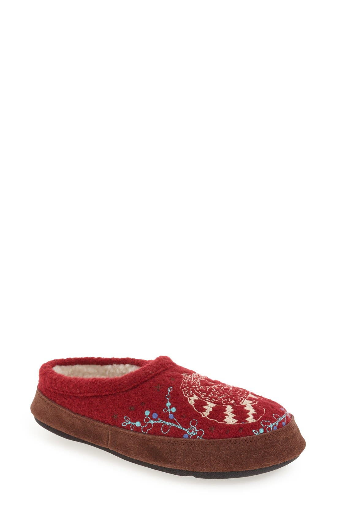 'Forest' Wool Mule Slipper,                             Main thumbnail 5, color,
