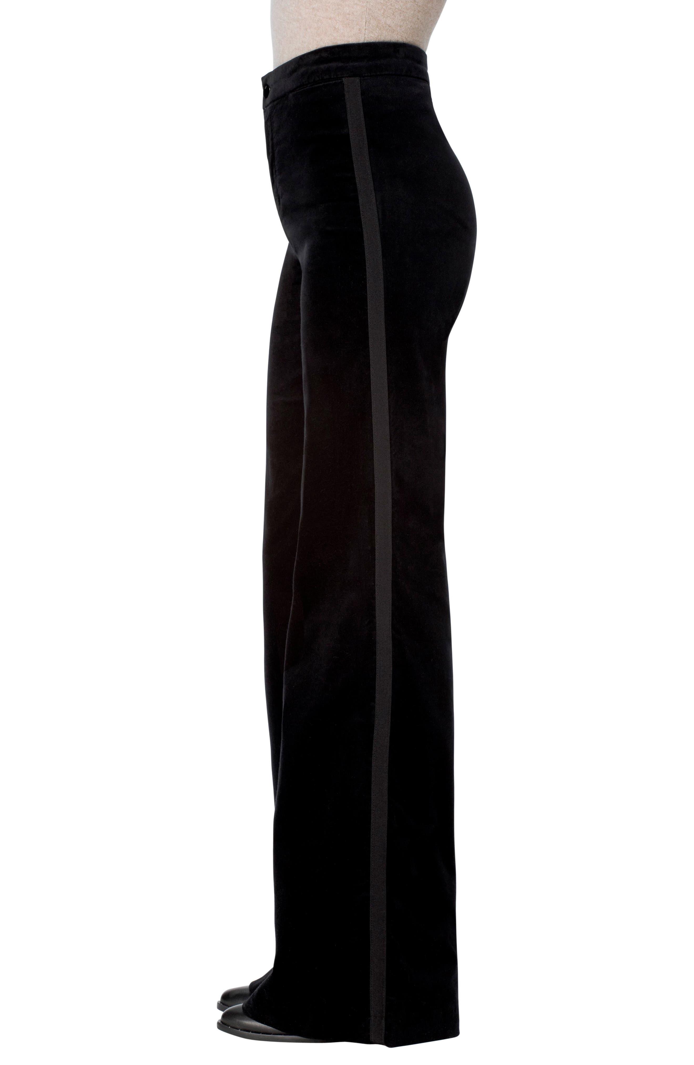 Isabella High Rise Flare Leg Pants,                             Alternate thumbnail 3, color,                             001