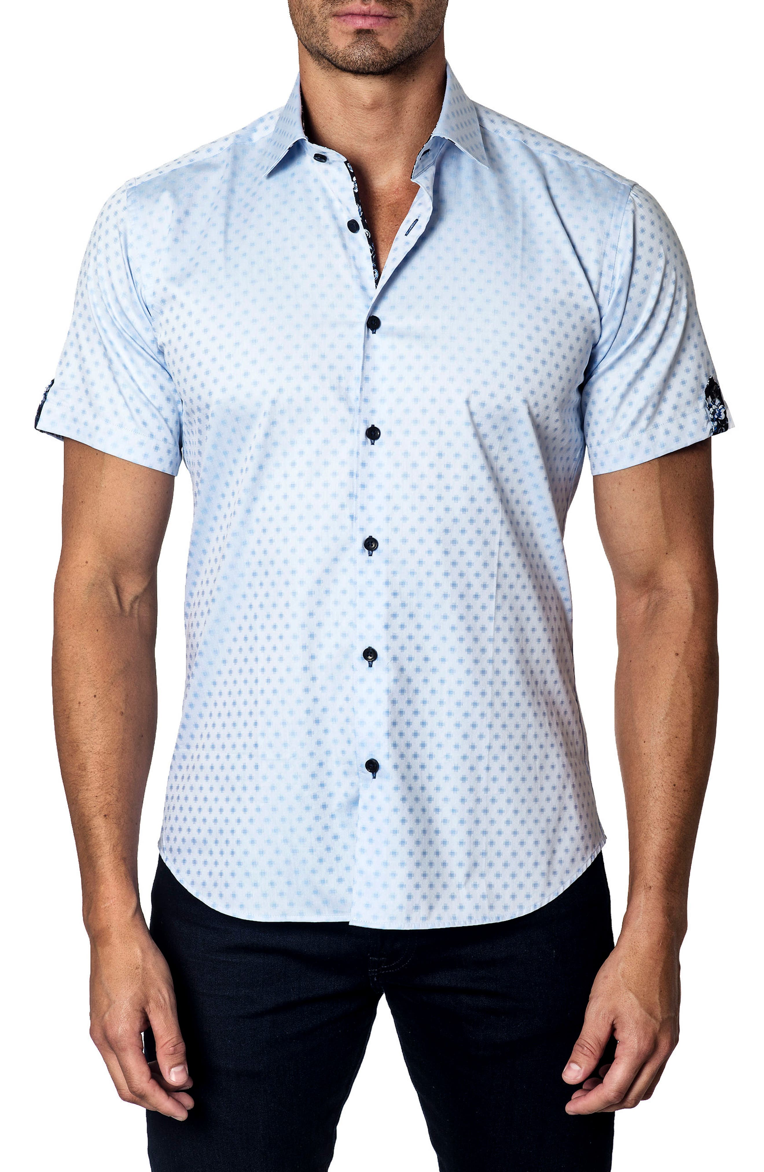 Trim Fit Dobby Sport Shirt,                         Main,                         color, 450
