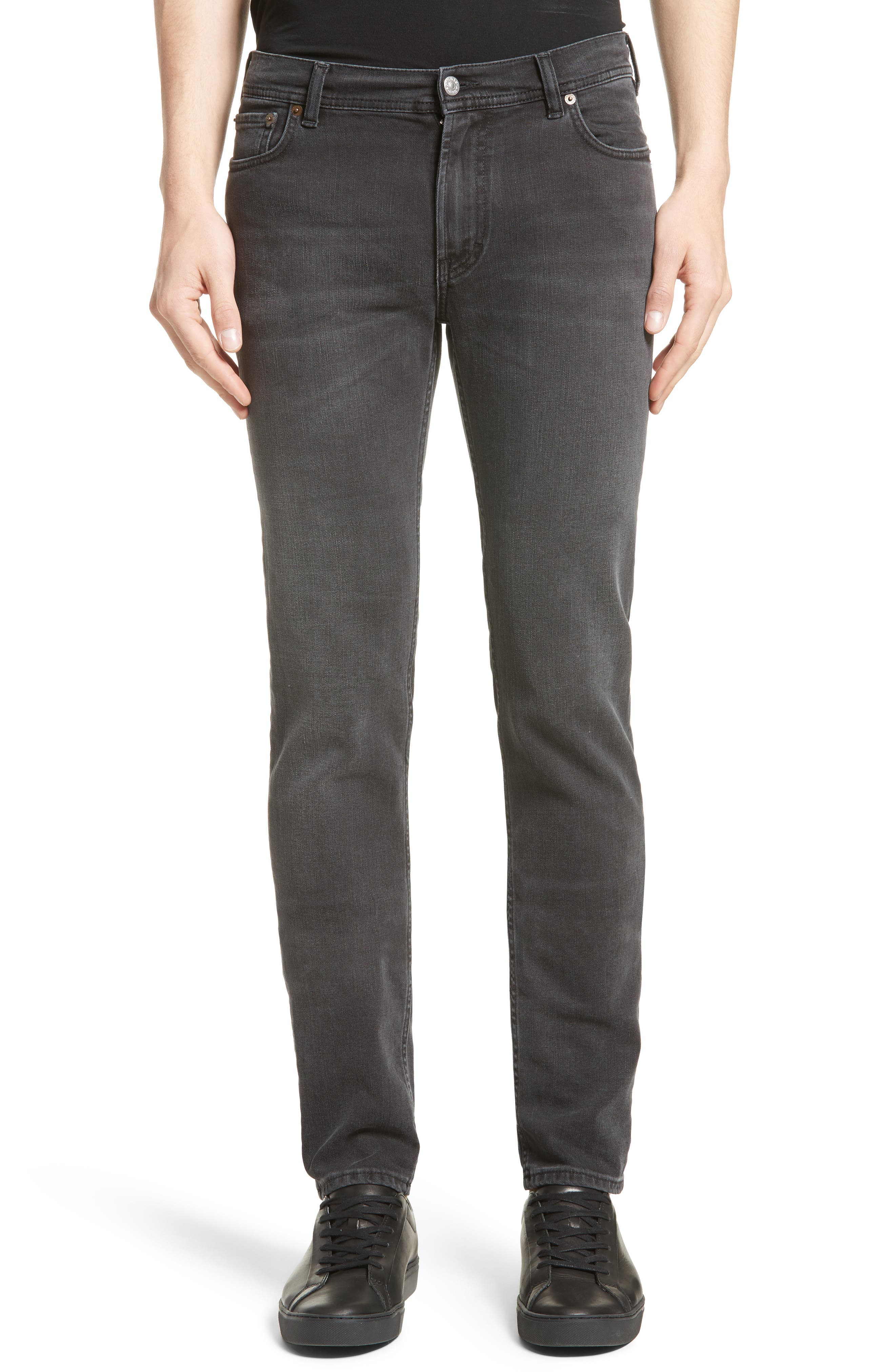 North Skinny Fit Jeans,                             Main thumbnail 1, color,                             USED BLACK