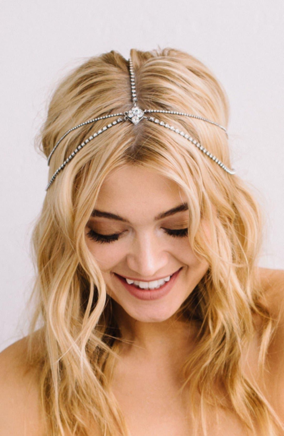 'Lindsay' Embellished Hair Chain,                             Alternate thumbnail 2, color,