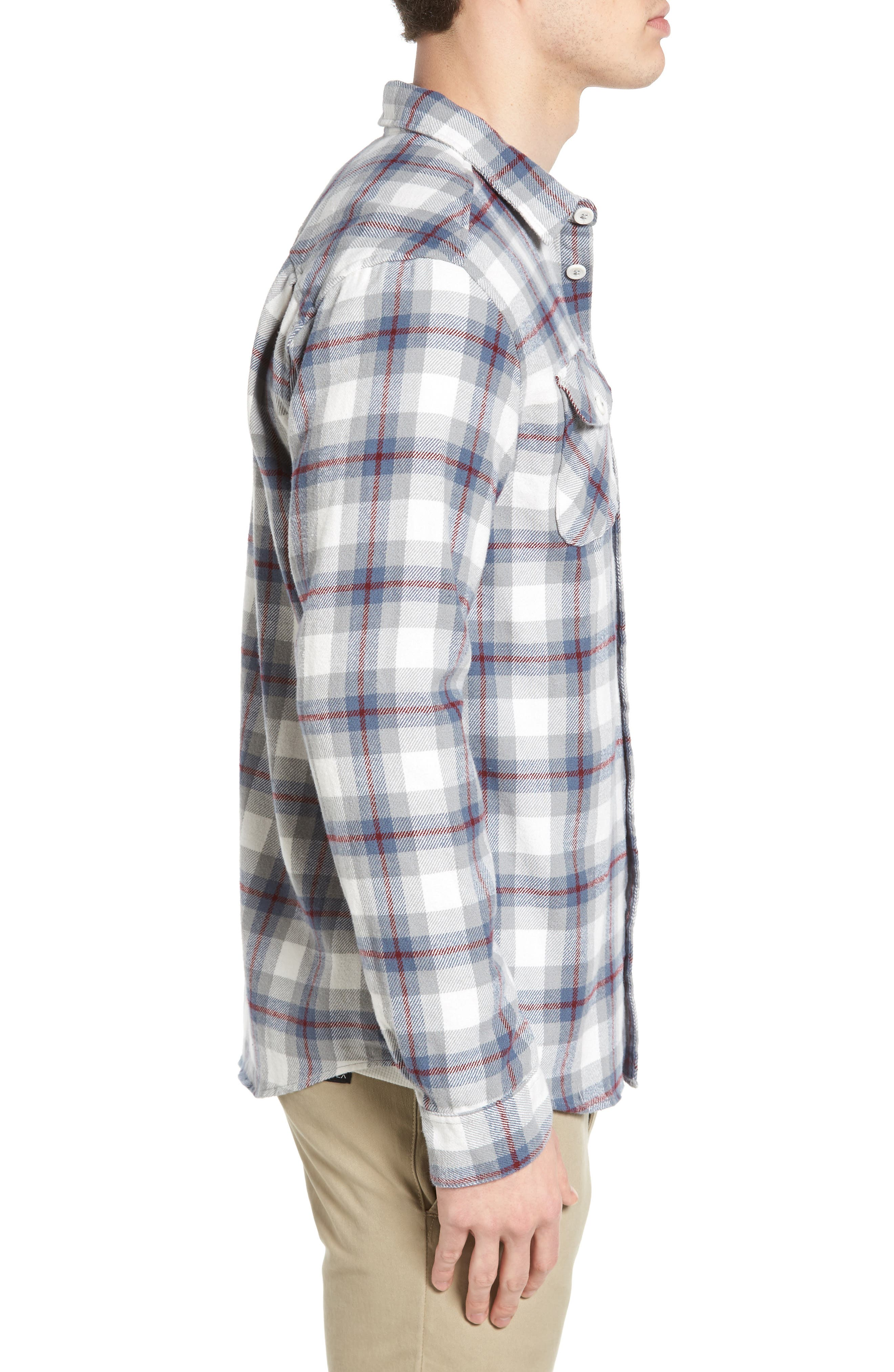'That'll Work' Trim Fit Plaid Flannel Shirt,                             Alternate thumbnail 15, color,