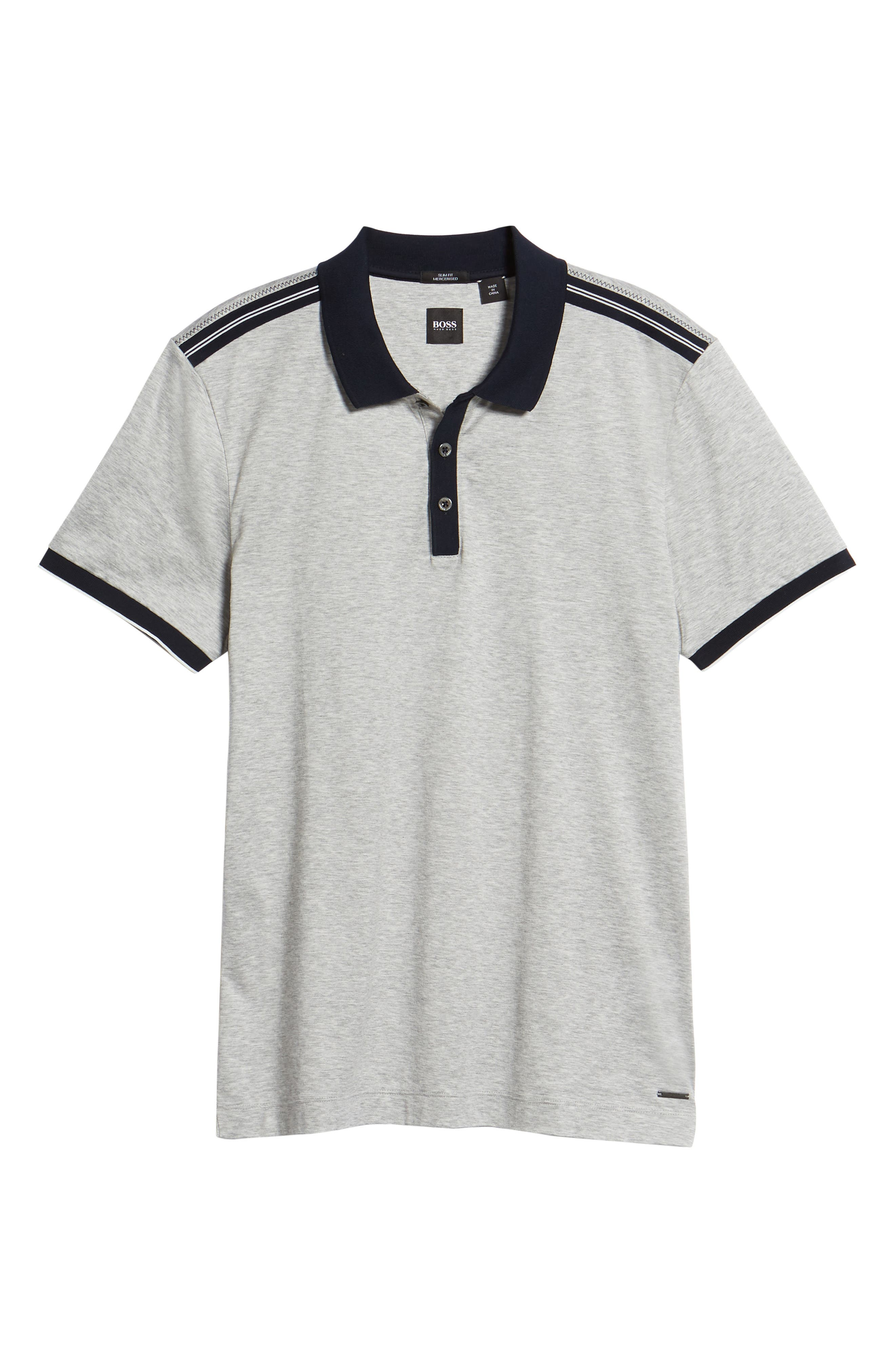 Slim Fit Phillipson Polo,                             Alternate thumbnail 6, color,                             GREY