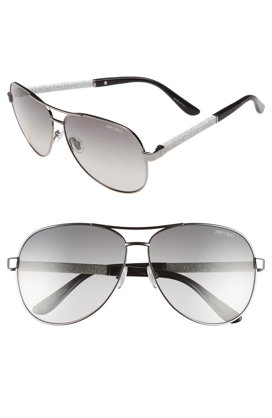 'Lexie' 61mm Aviator Sunglasses,                             Main thumbnail 2, color,