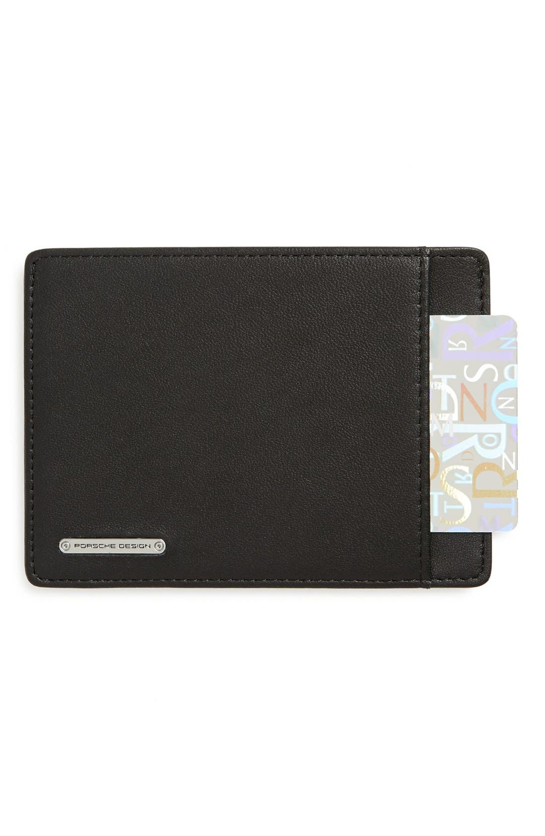 'CL2 2.0' Leather Card Holder,                             Main thumbnail 1, color,                             001