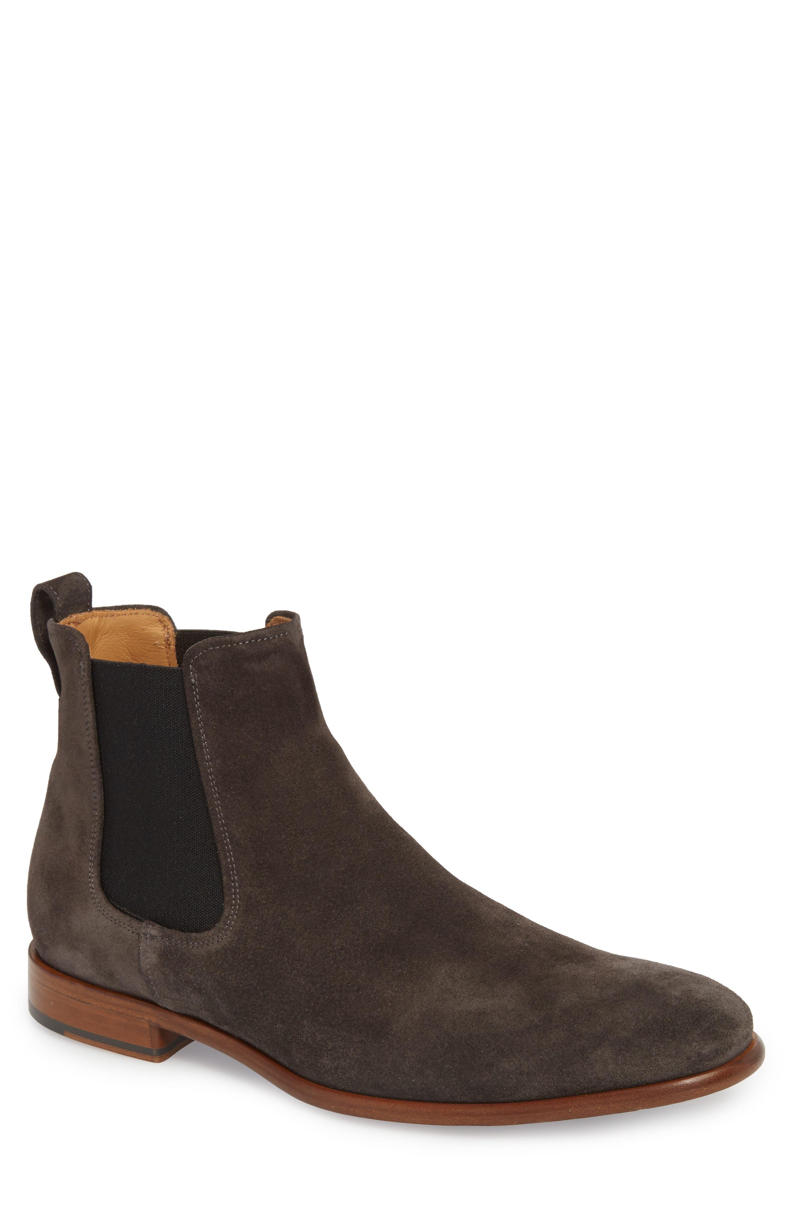 Aldous Chelsea Boot,                         Main,                         color, GRAPHITE SUEDE