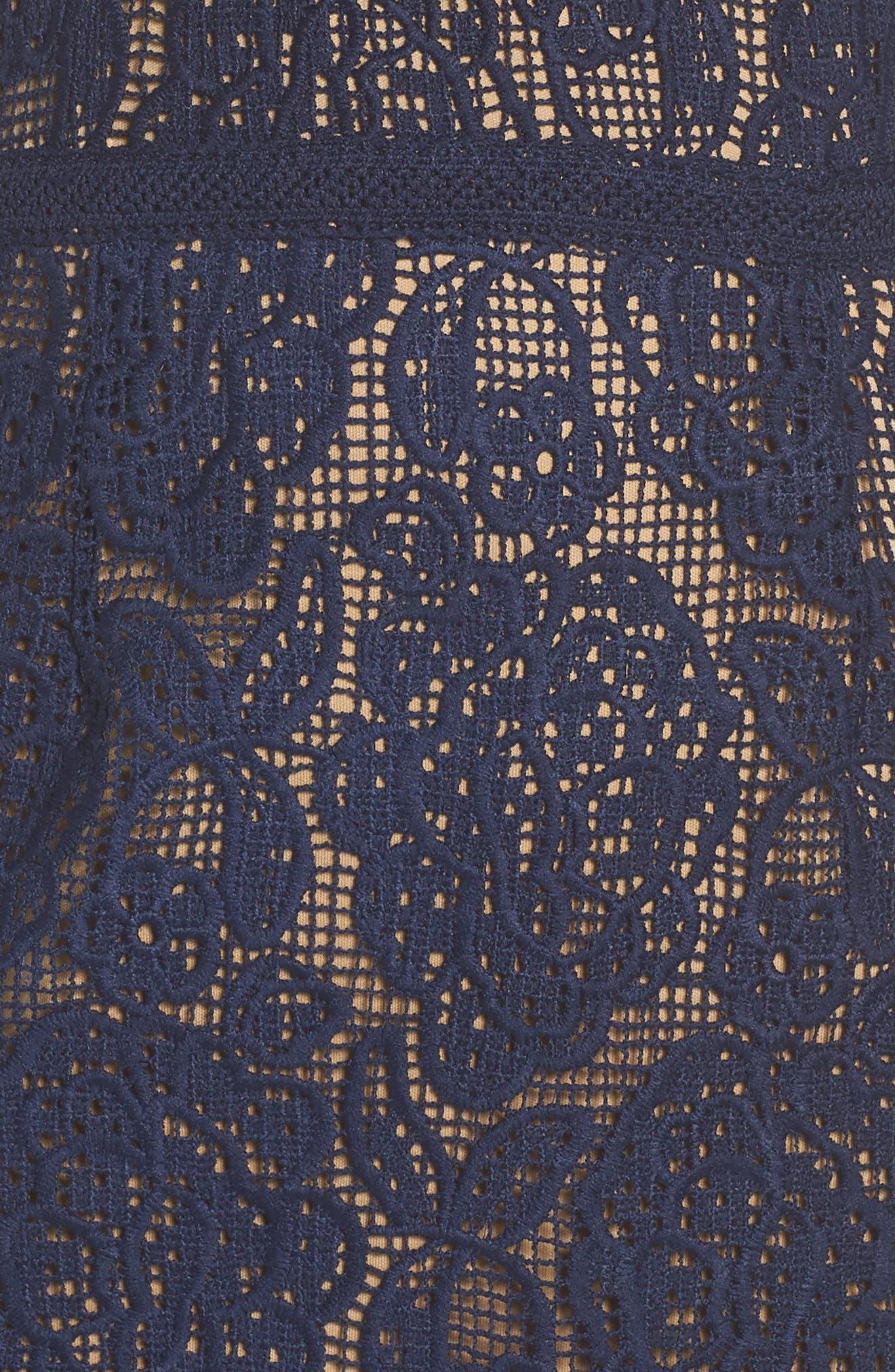 Majorie Lace Dress,                             Alternate thumbnail 6, color,                             NAVY