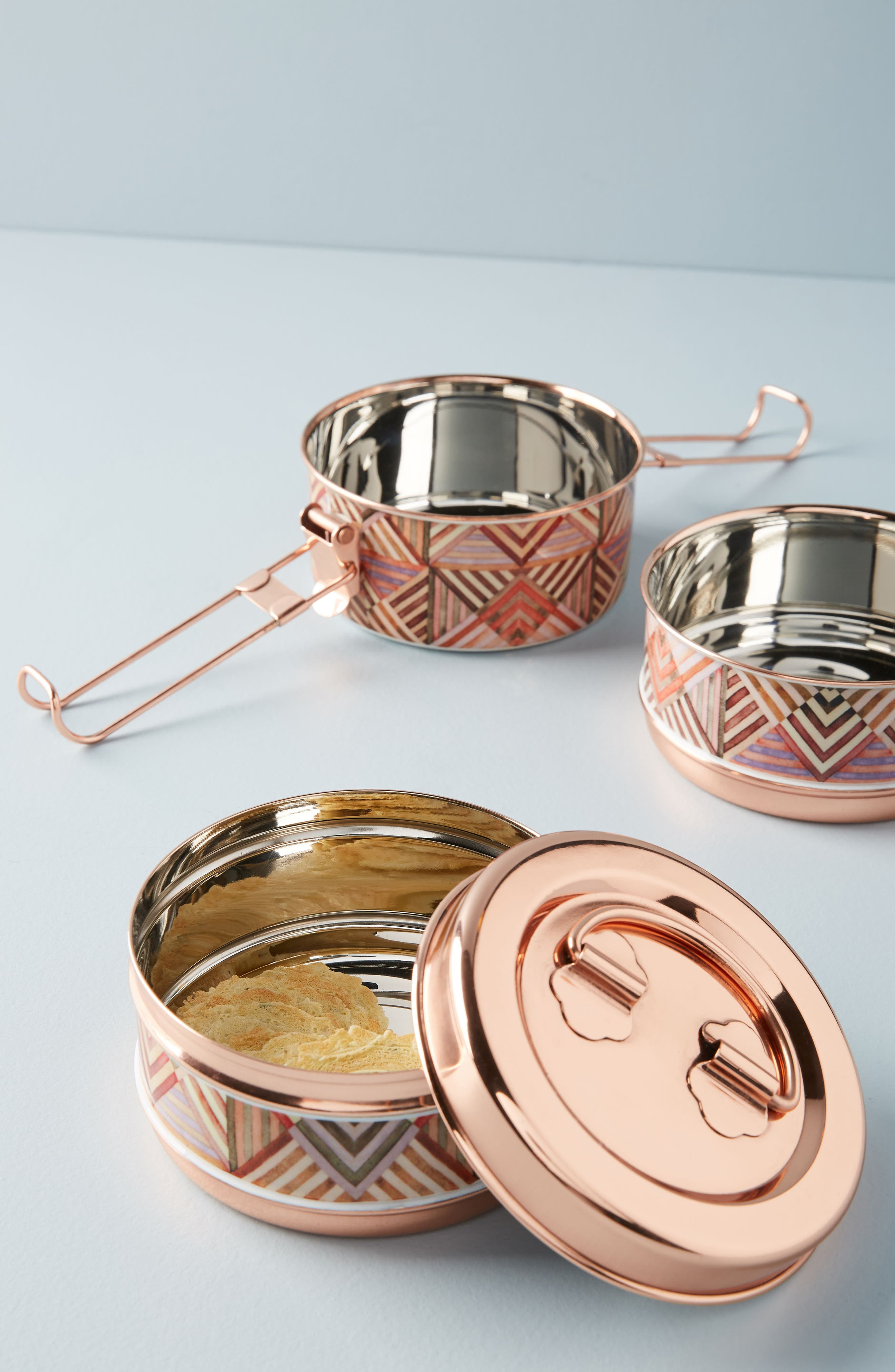 Tiffin Tiered Storage Bowl Set,                             Alternate thumbnail 4, color,                             221
