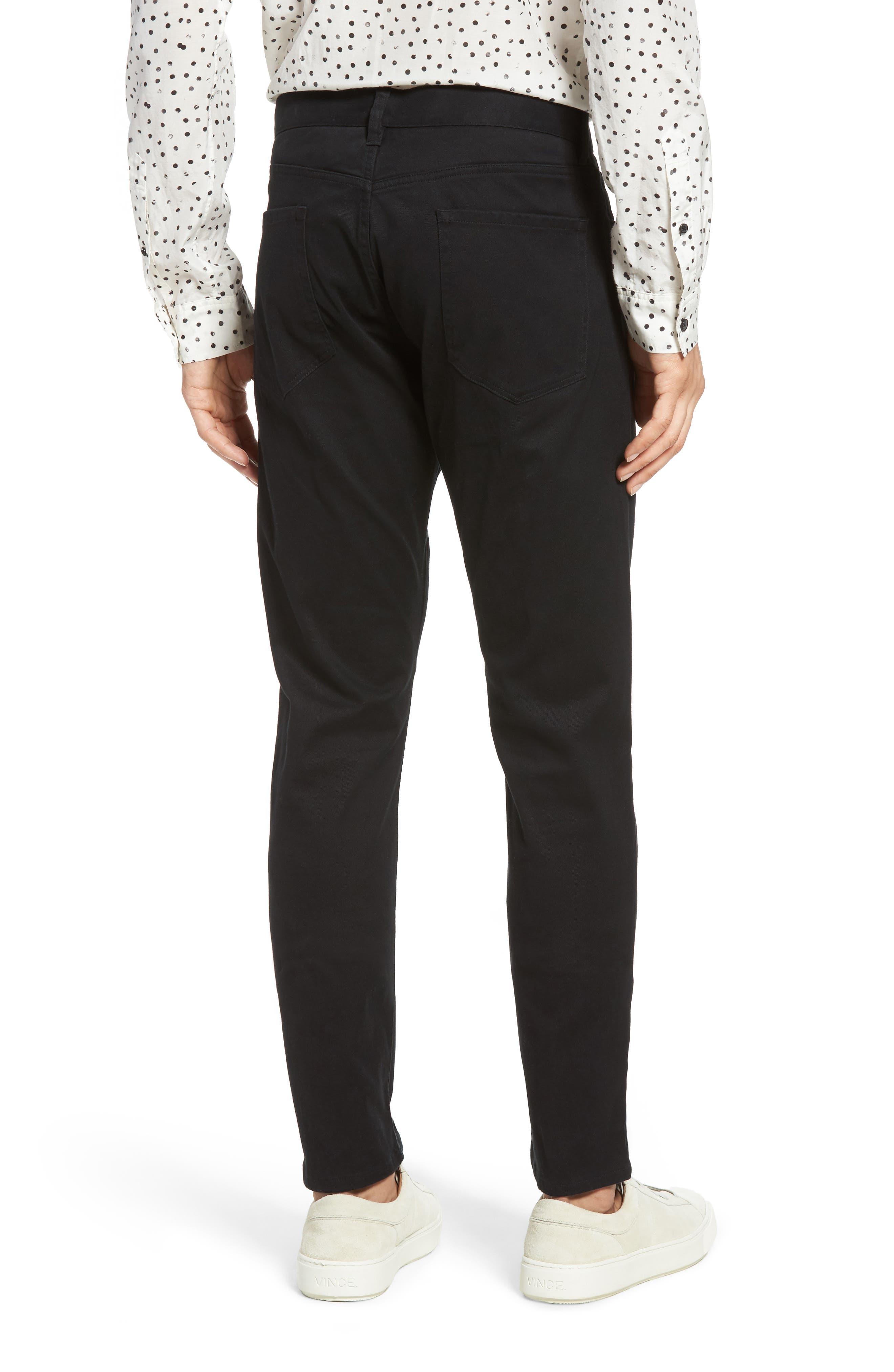 VINCE,                             Soho Slim Fit Five-Pocket Pants,                             Alternate thumbnail 2, color,                             001
