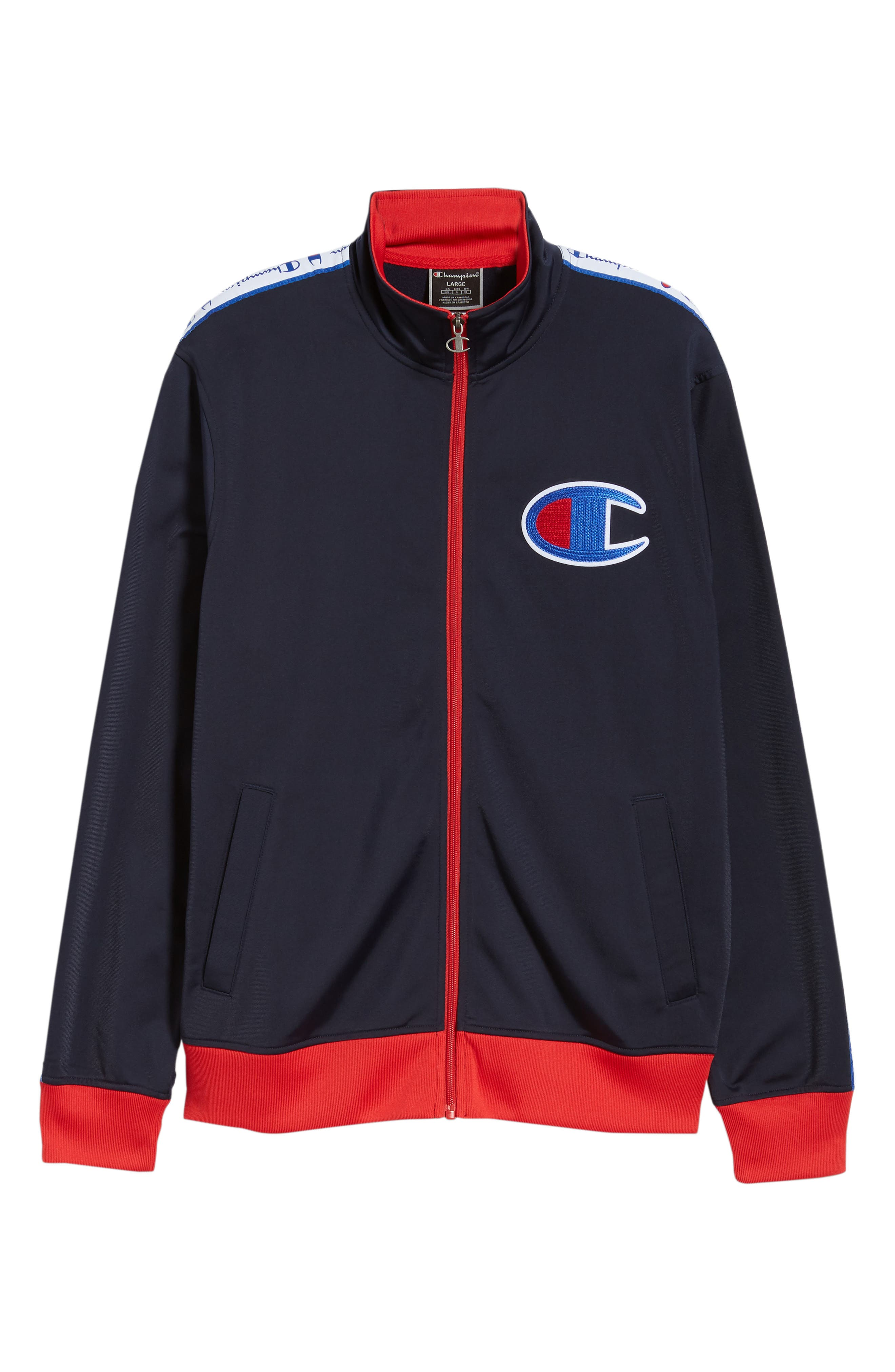 Track Jacket,                             Alternate thumbnail 6, color,                             NAVY/ SCARLET