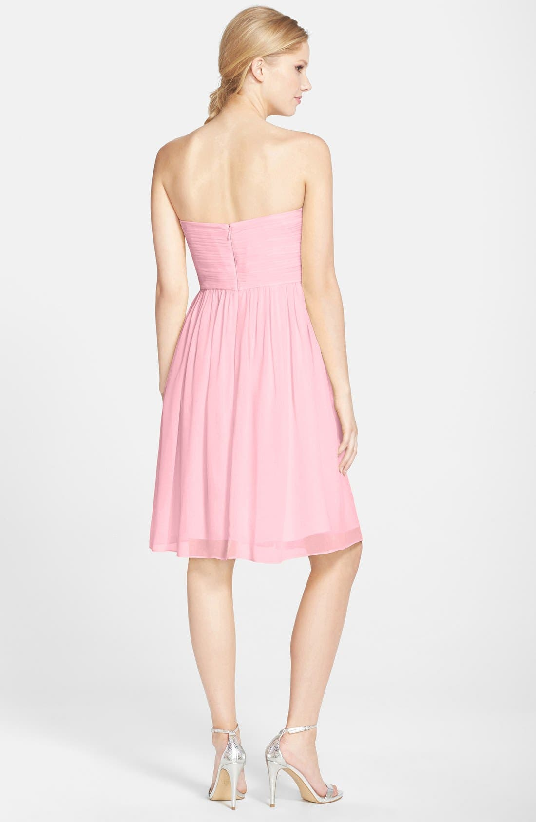 'Morgan' Strapless Silk Chiffon Dress,                             Alternate thumbnail 97, color,