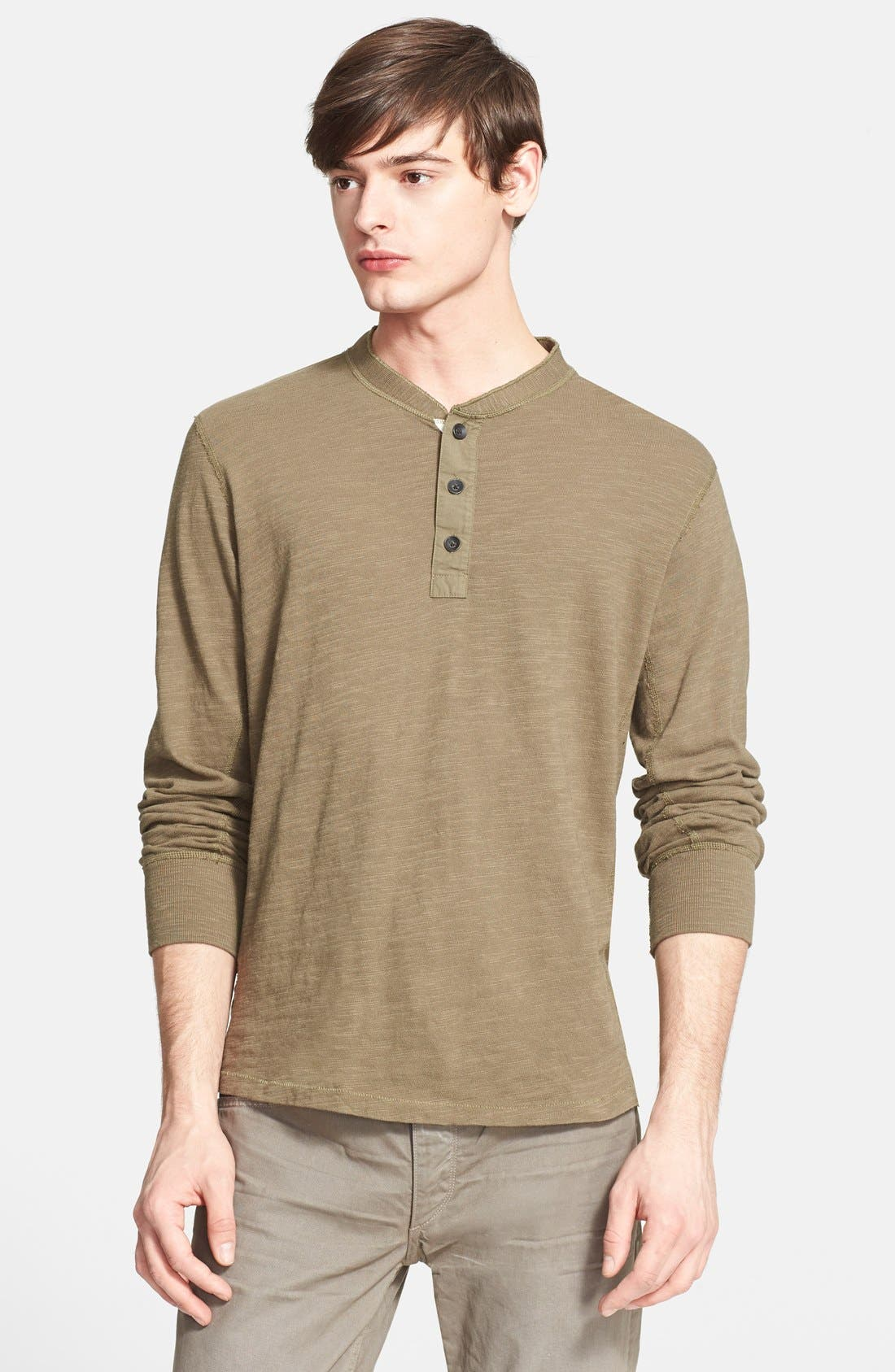 Standard Issue Slub Cotton Henley,                             Main thumbnail 9, color,